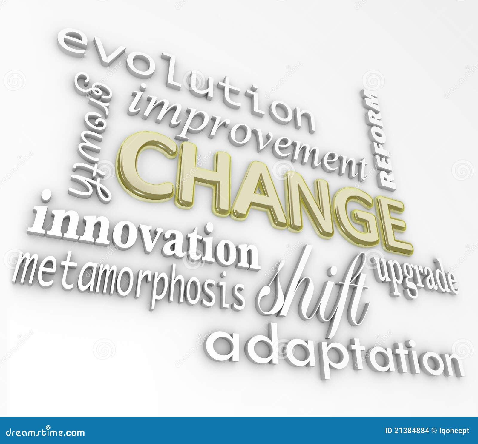 изменение 3d эволюционирует растет улучшает слова успеха