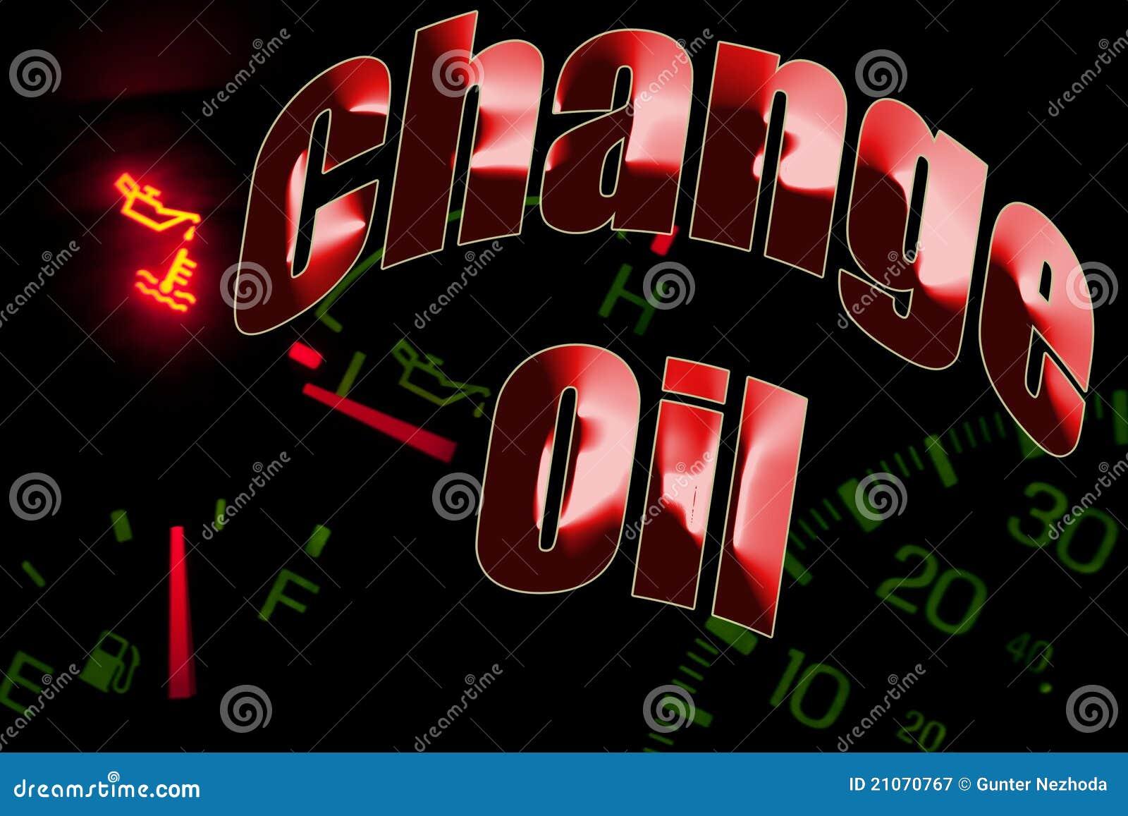 Измените свет двигателя обслуживания масла