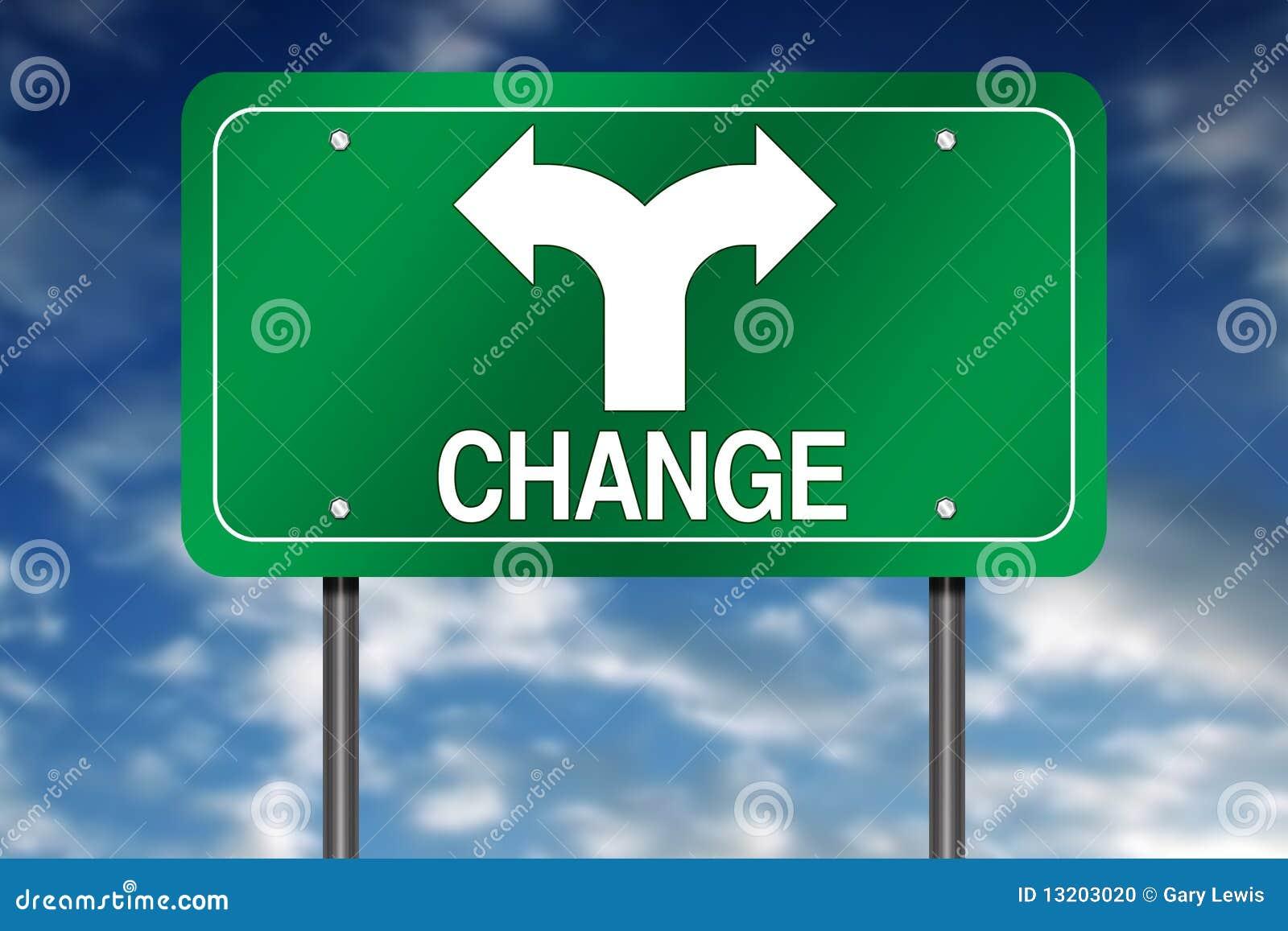 изменяя знак направления