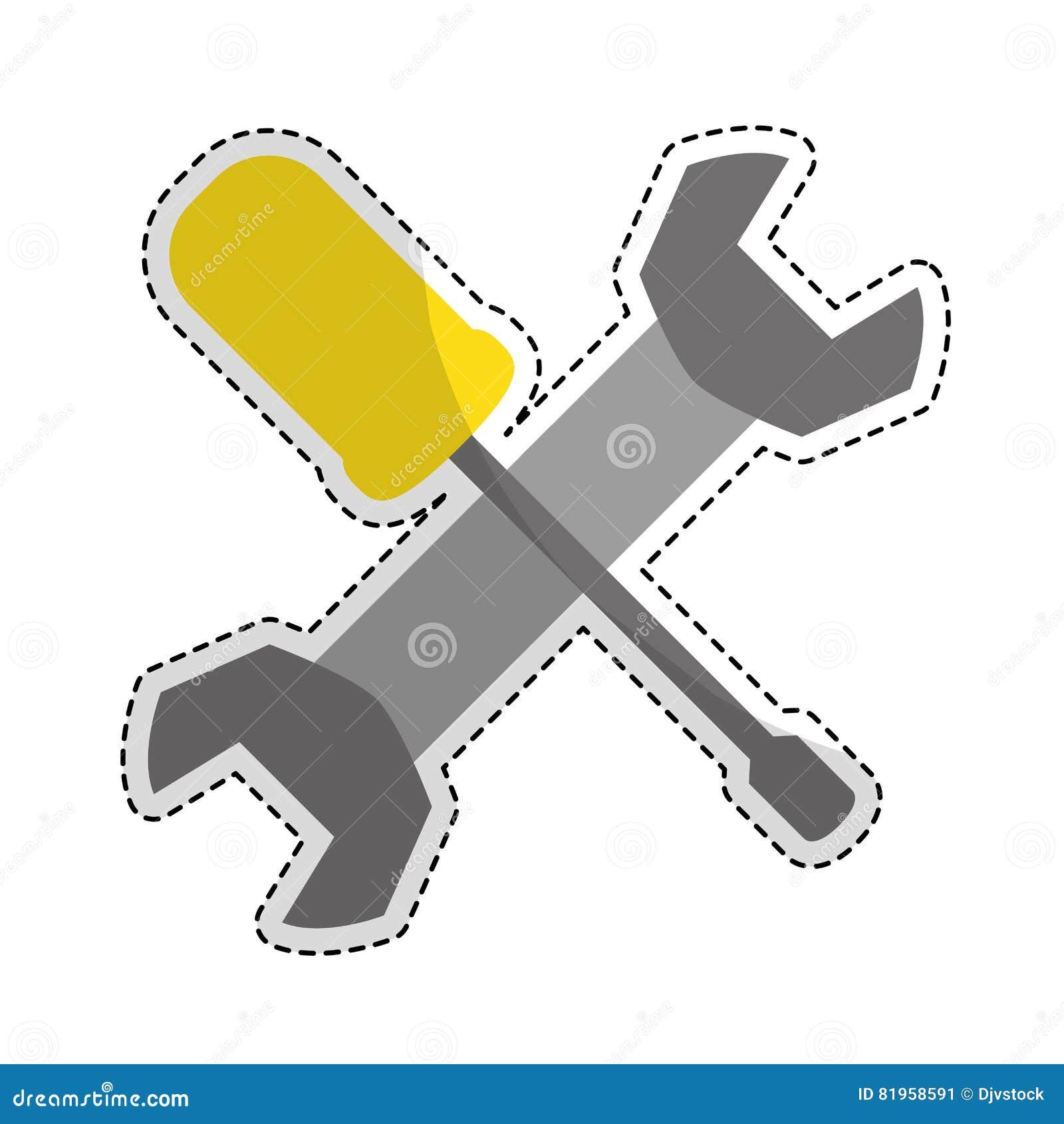 Изображение значка ключа и отвертки