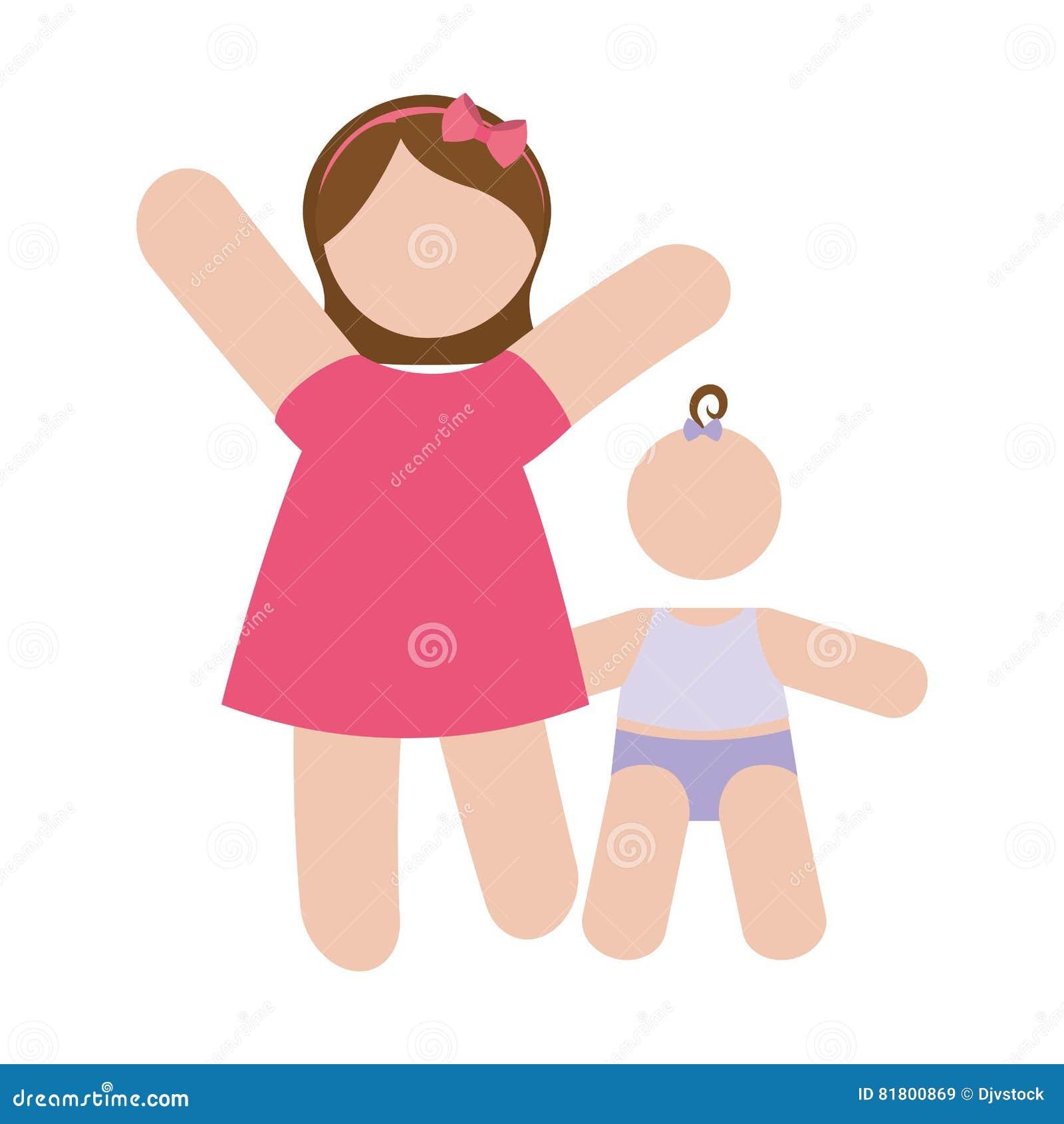 Изображение значка матери и ребенка
