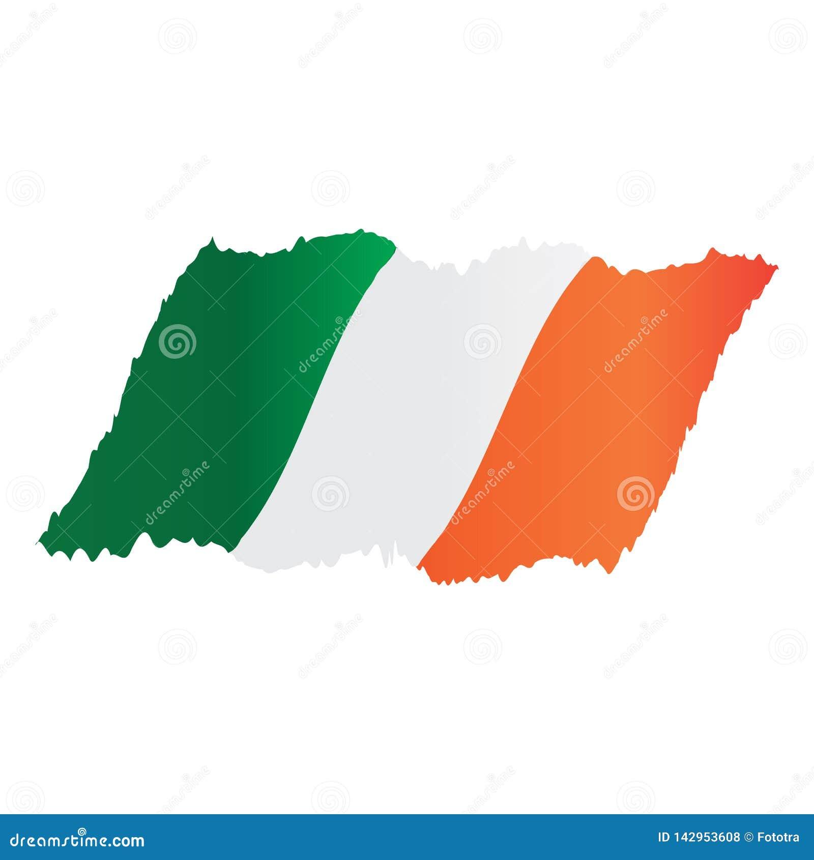 Изображение иллюстрации дизайна вектора флага Ирландии
