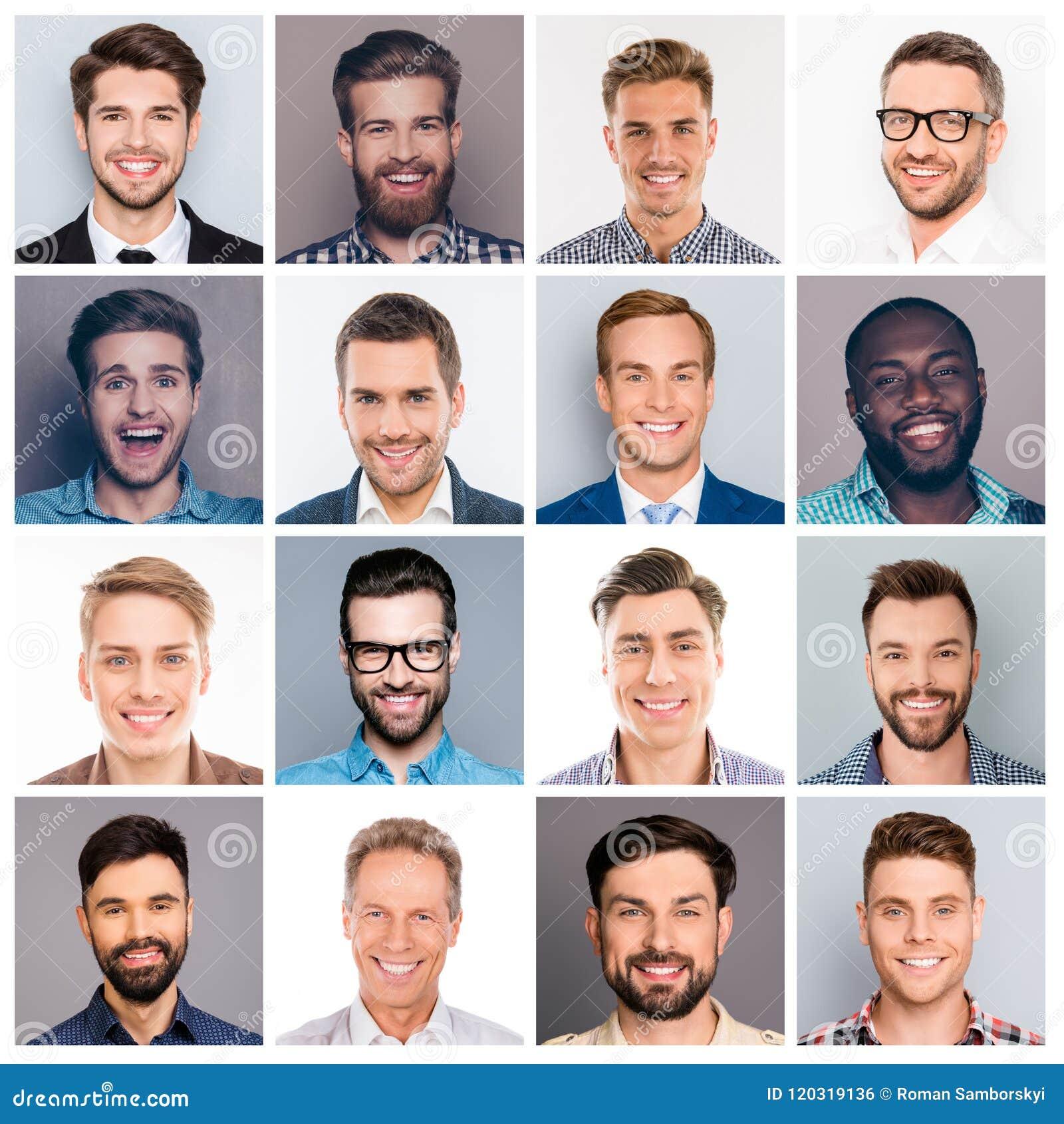 Изображение коллажа различного многонационального жизнерадостного взрослого expr человека