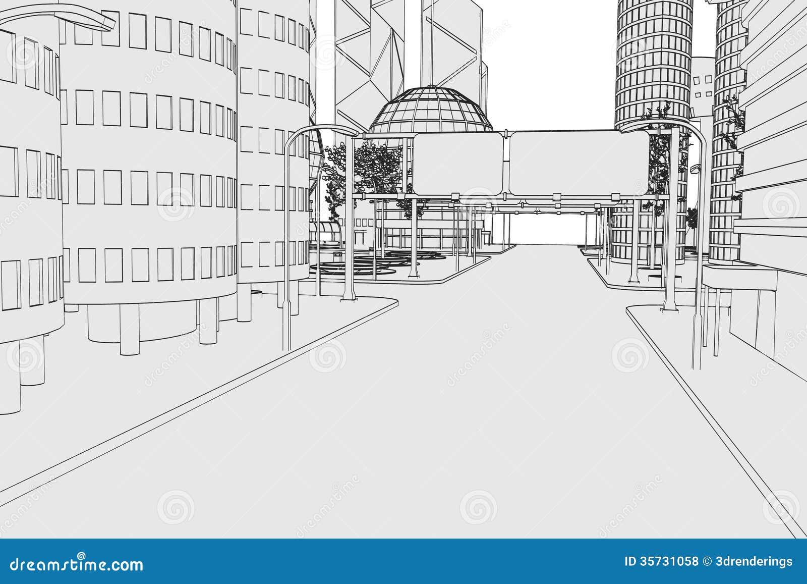 Изображение современного города
