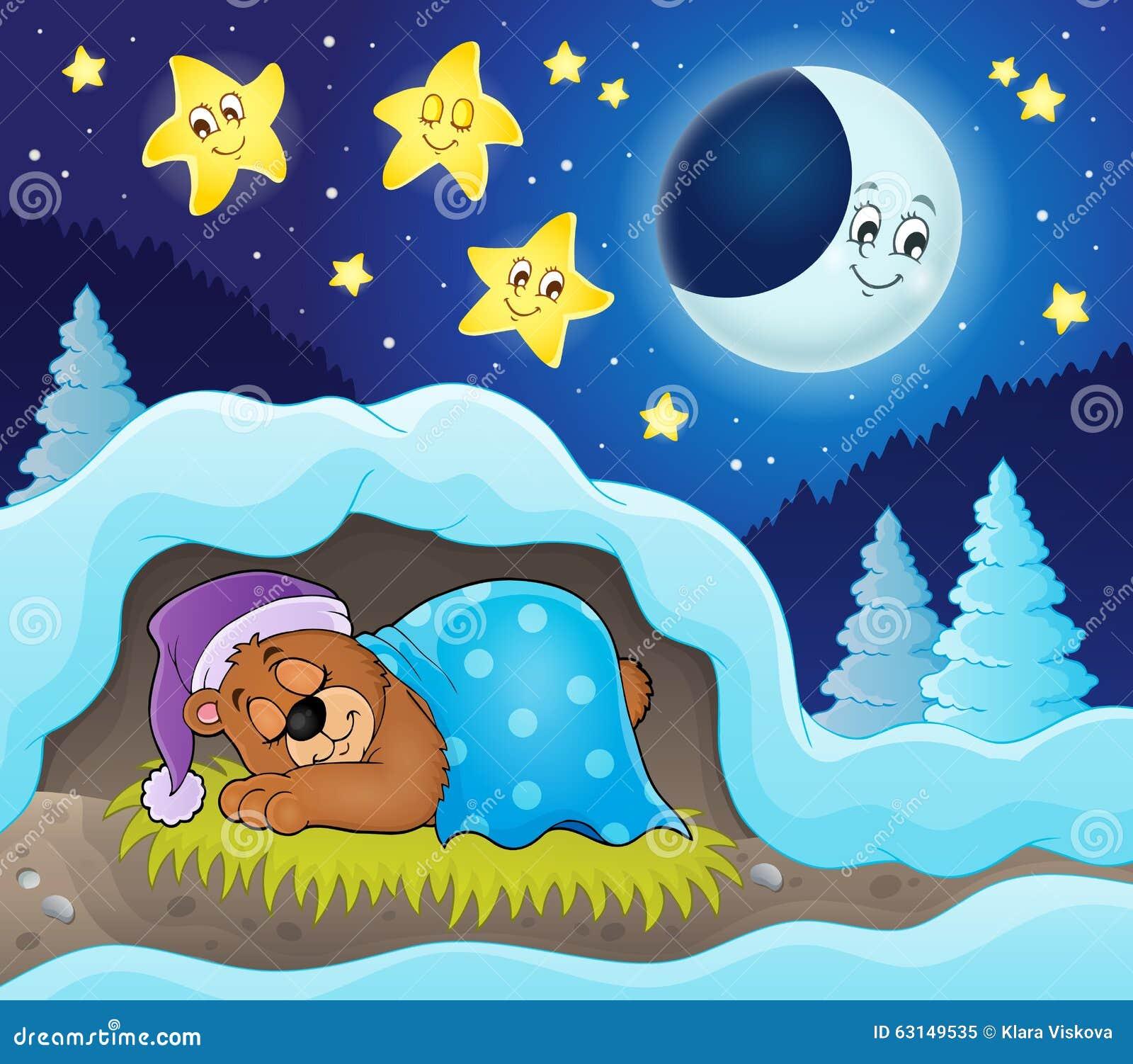 Изображение 3 темы медведя спать
