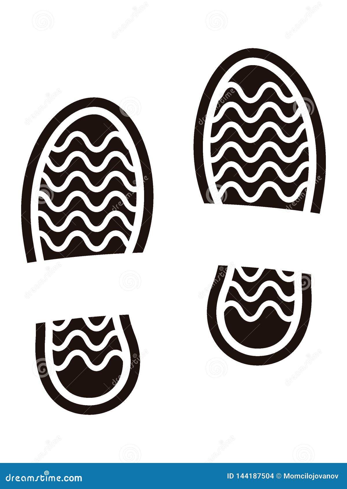 Изображение человеческого следа ноги ботинка