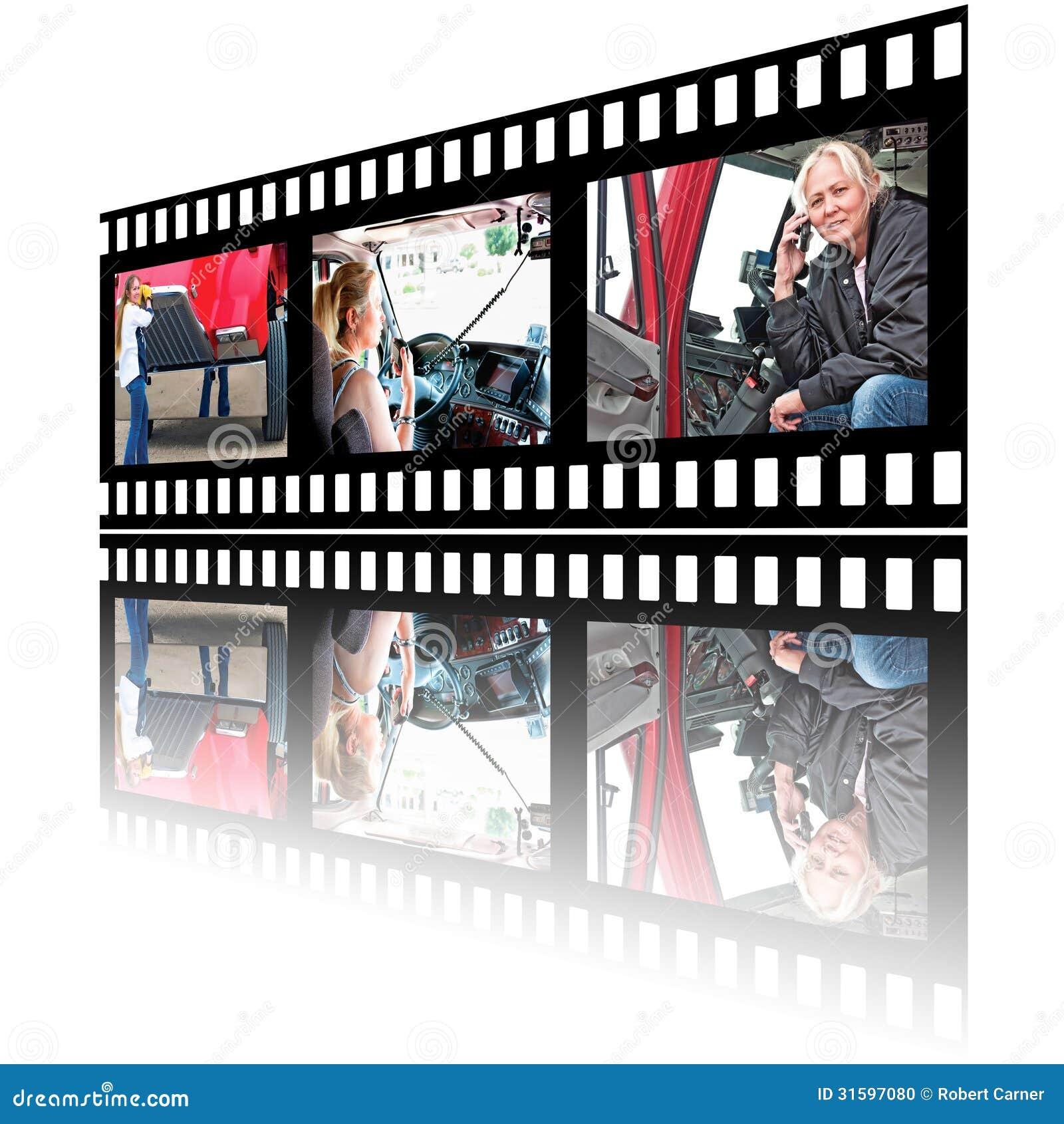 Изображения Stip фильма водителя грузовика женщины
