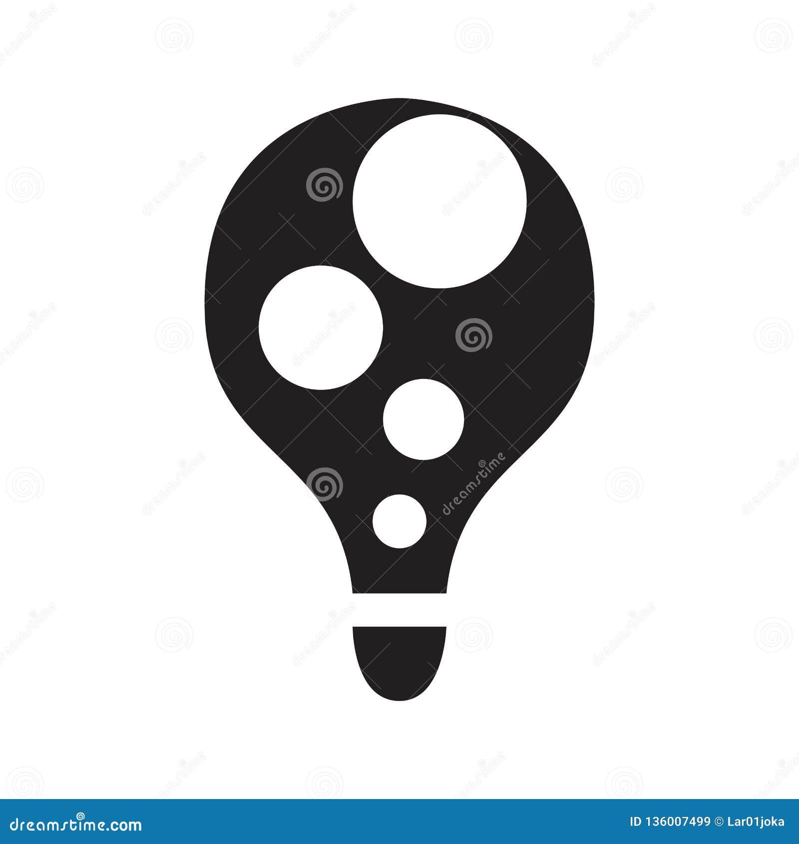 Изолированная абстрактная концепция лампочки