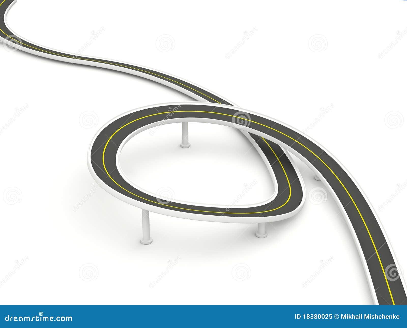 изолированная белизна дороги