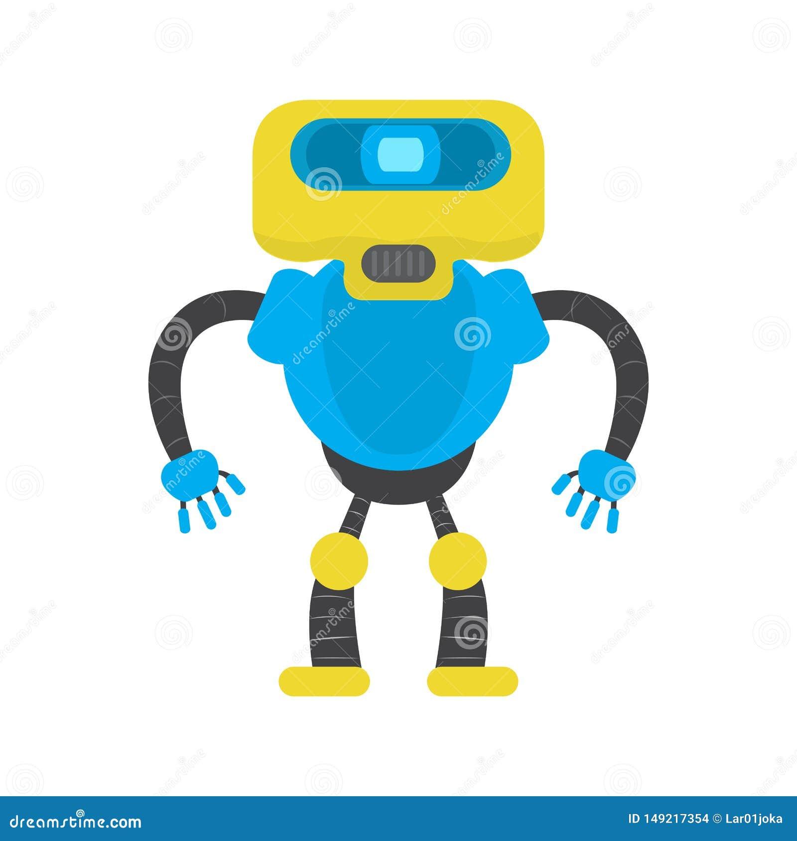 Изолированная игрушка робота - вектор