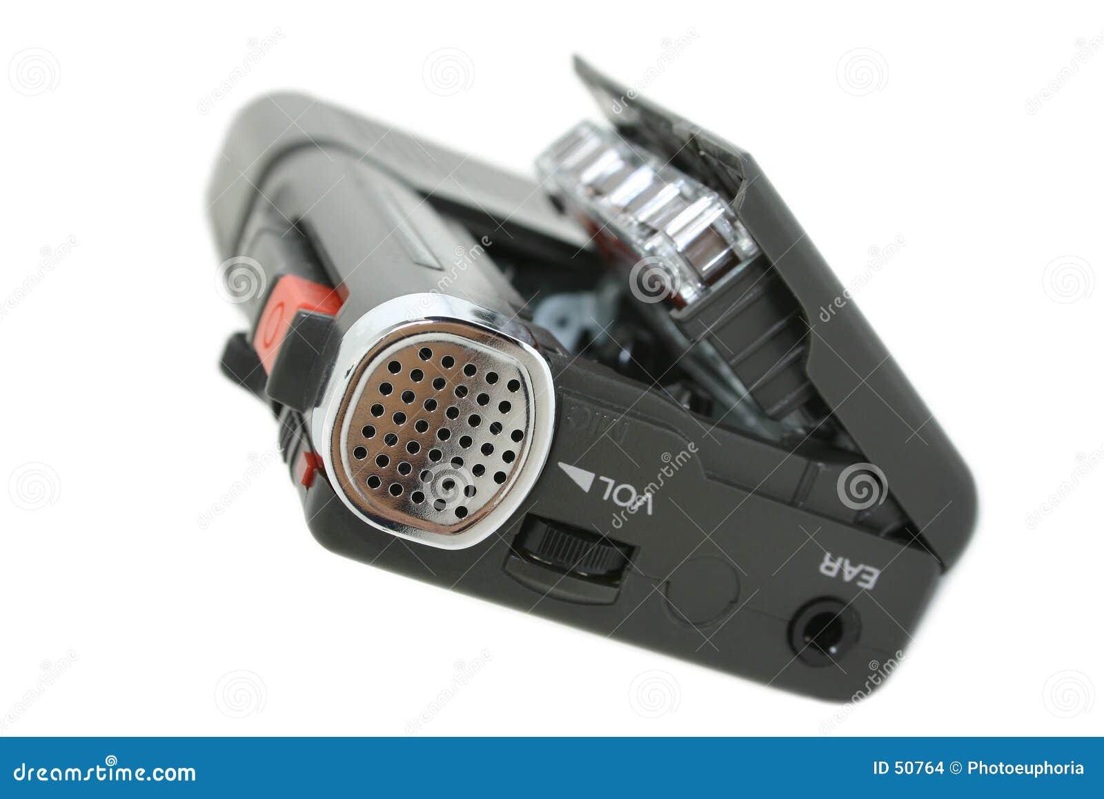 изолированная кассетой миниая белизна рекордера