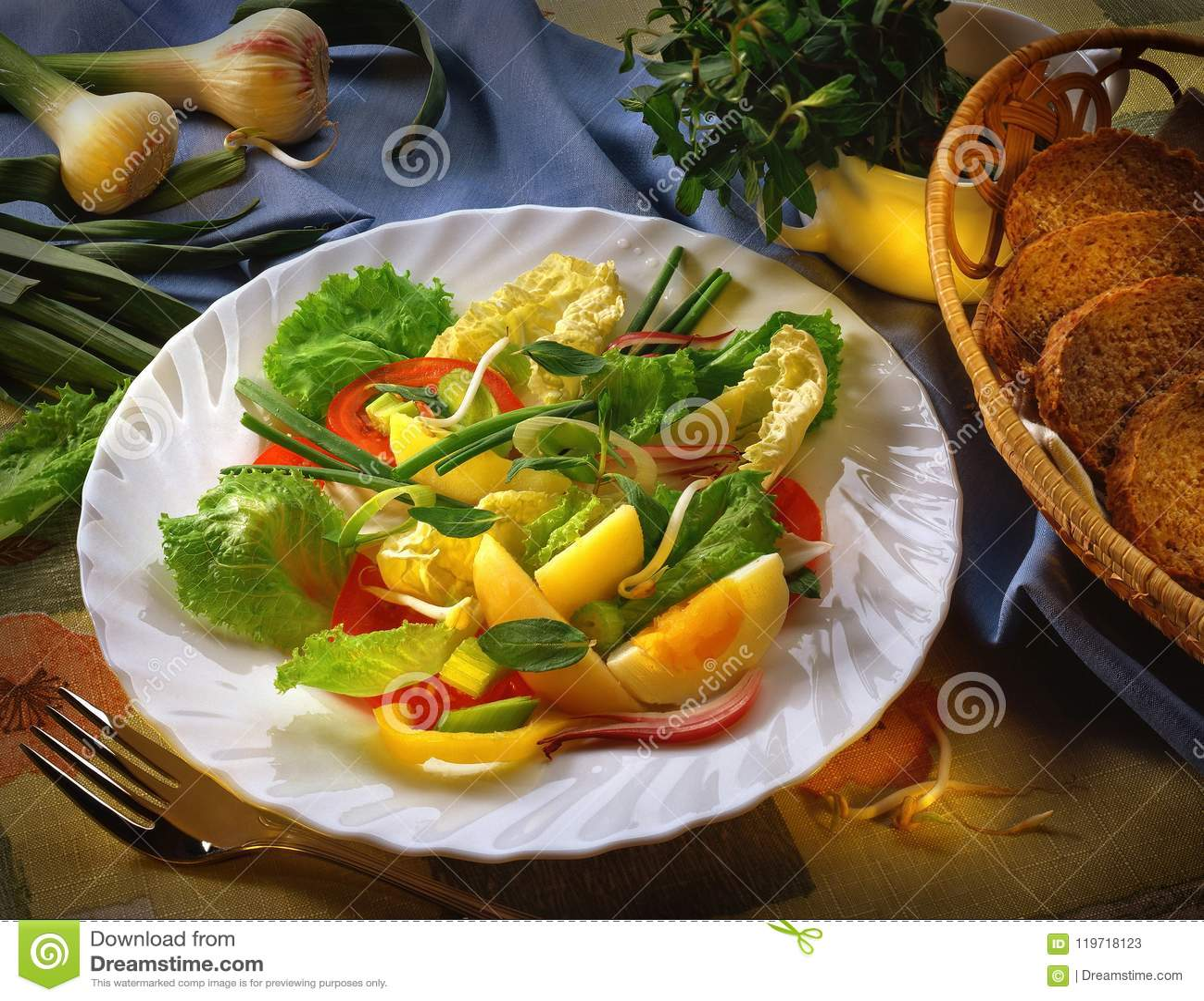 изолированная предпосылкой белизна овоща салата плиты предмета