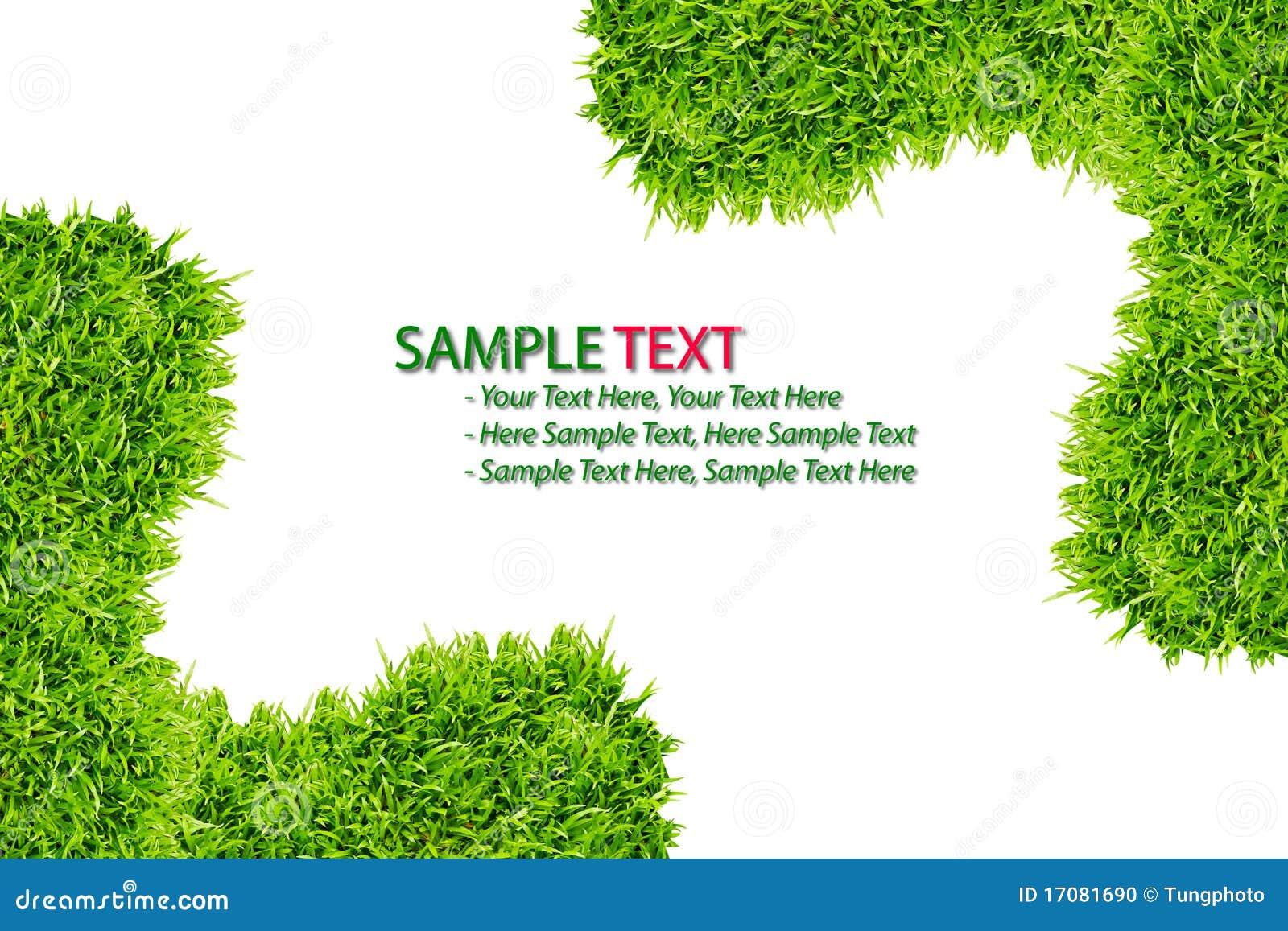 изолированная трава рамки