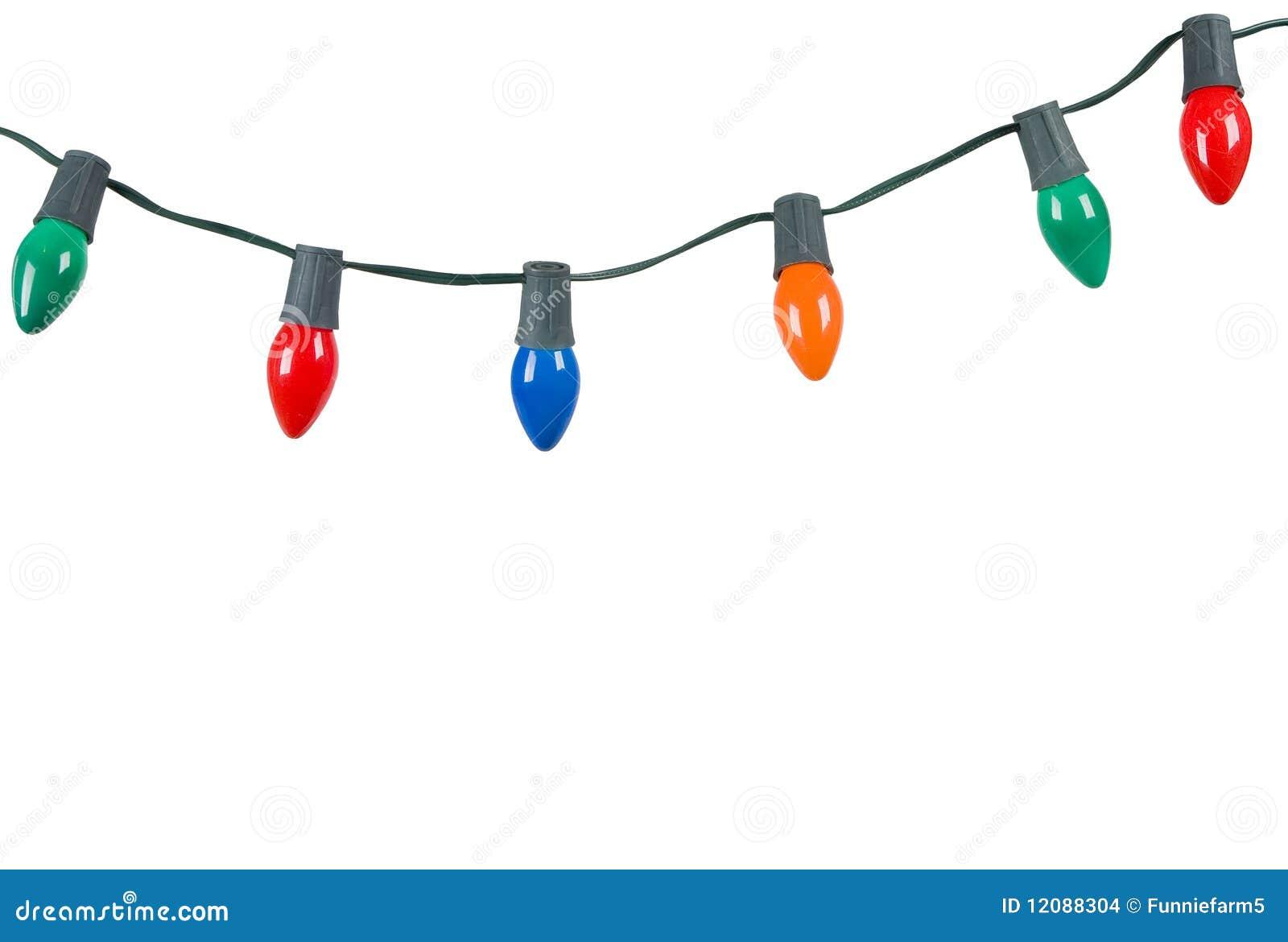 изолированное рождество освещает белизну
