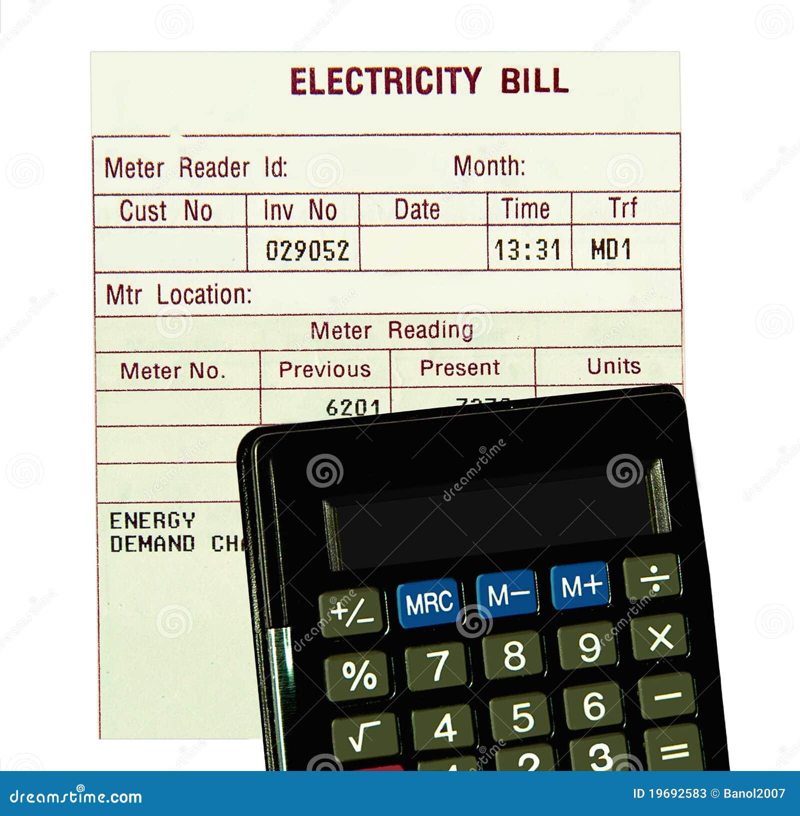 изолированное электрическое чалькулятора счета