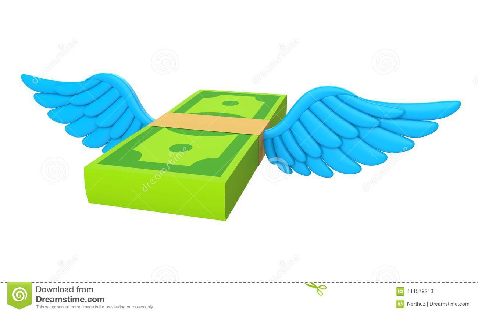 Изолированные деньги подгоняют летание