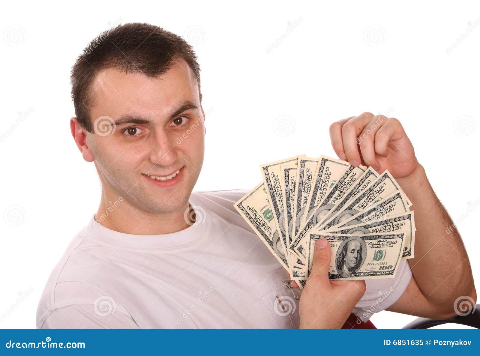 изолированные деньги человека