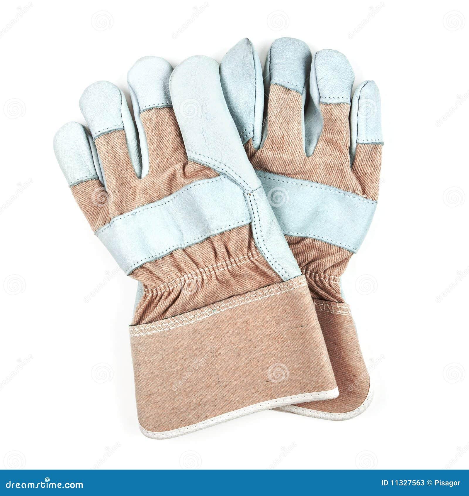 изолированные перчатки спаривают белую работу