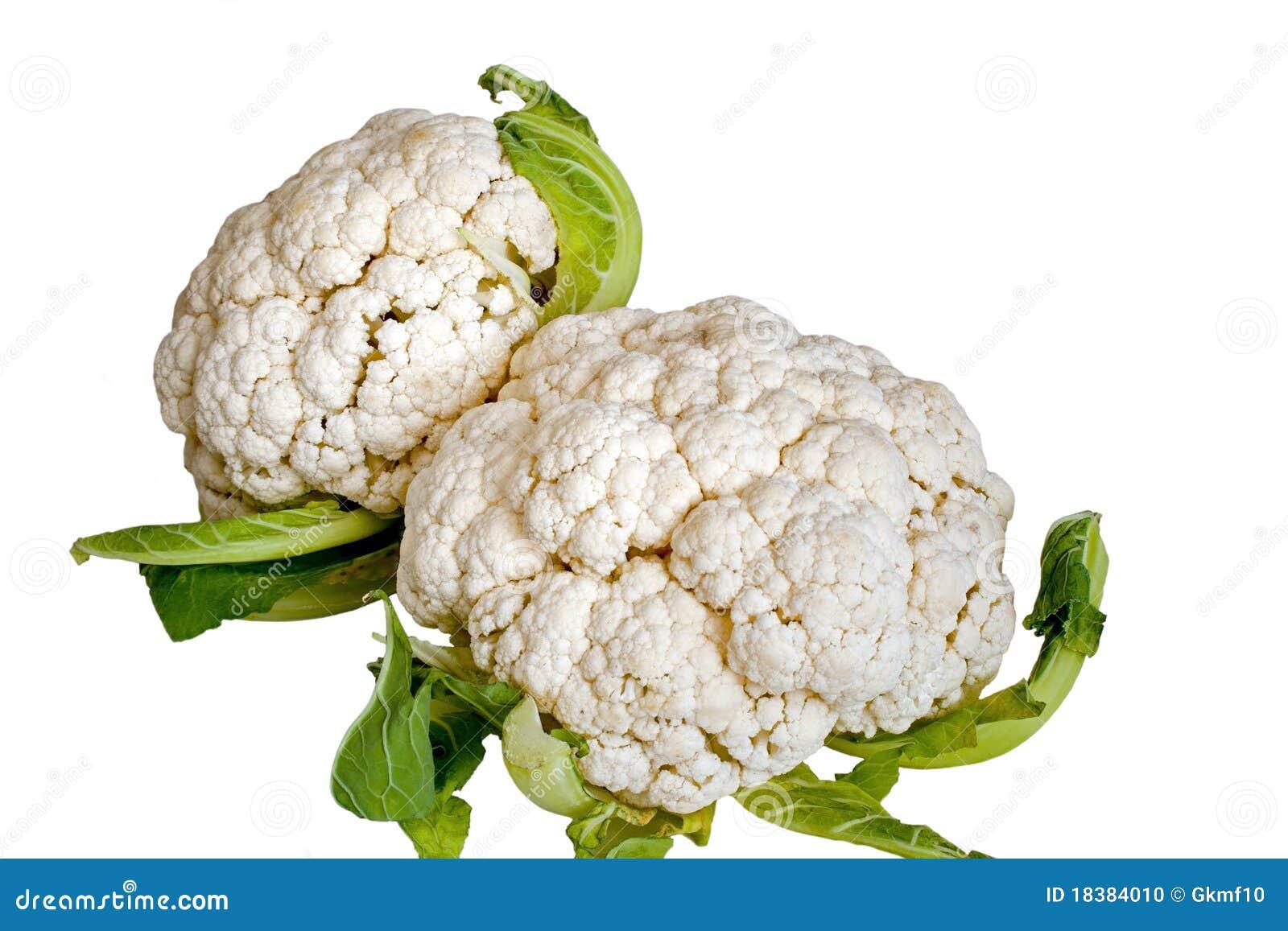 изолированные cauliflowers