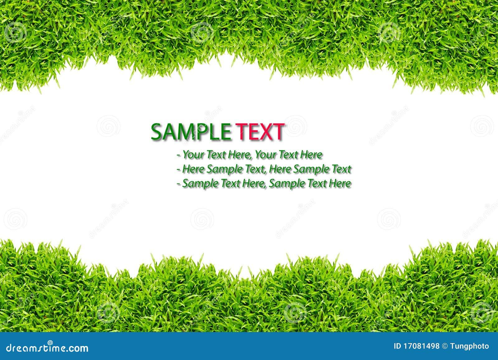 изолированный зеленый цвет травы рамки
