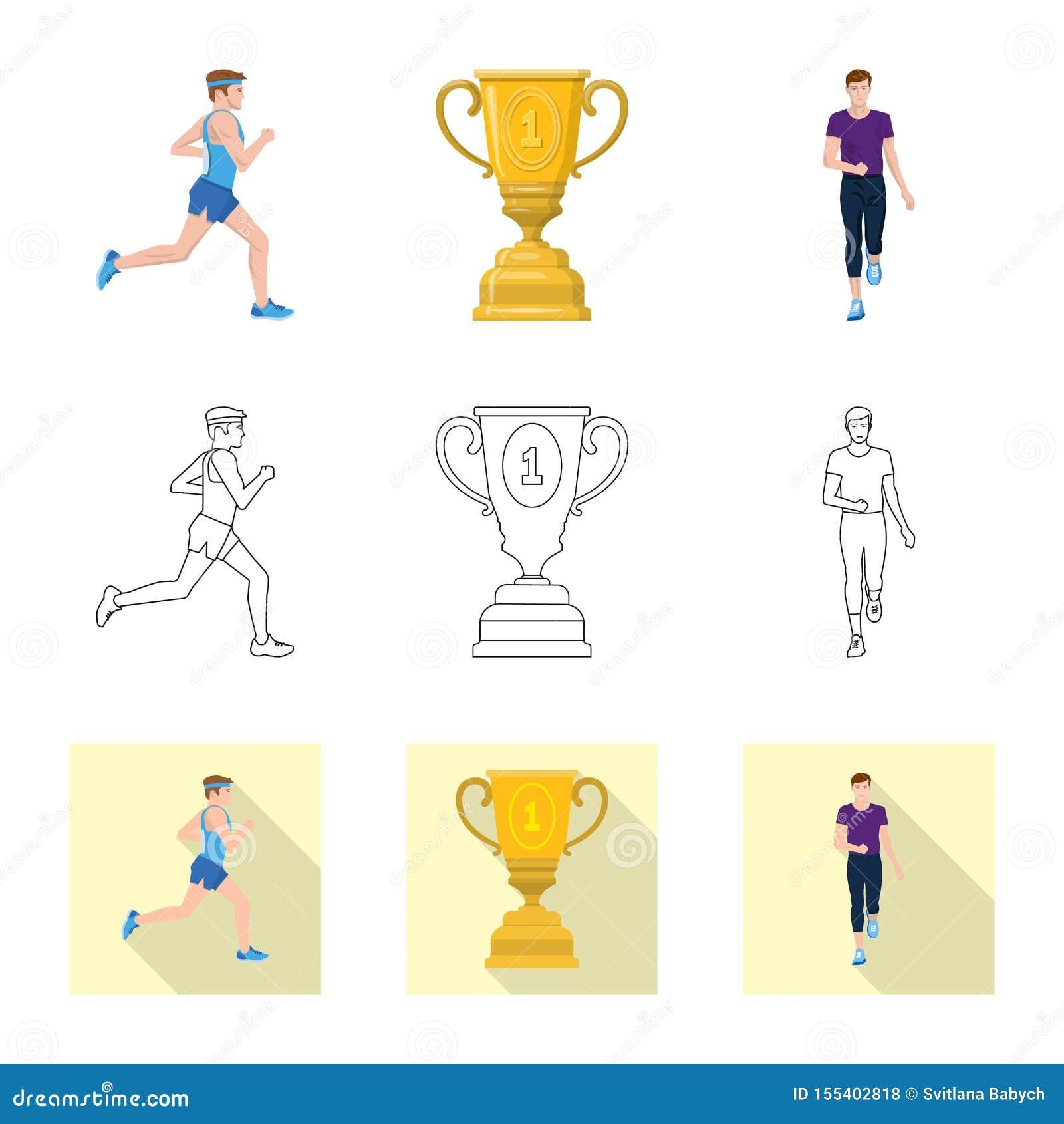 Изолированный объект спорта и символа победителя Собрание иллюстрации вектора запаса спорта и фитнеса