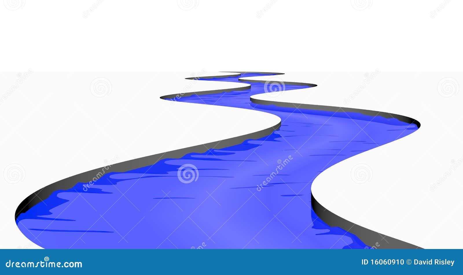 изолированный поток реки