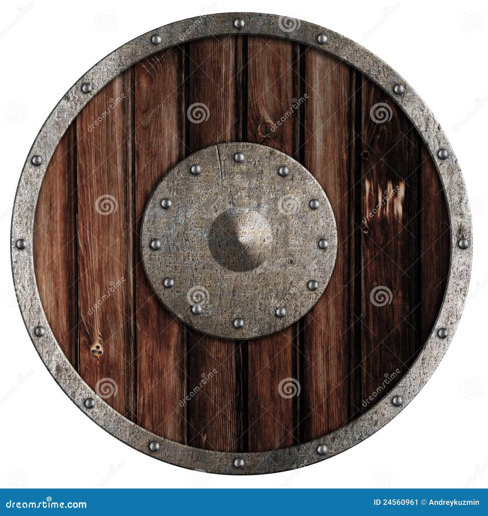 изолированный старый экран viking деревянный