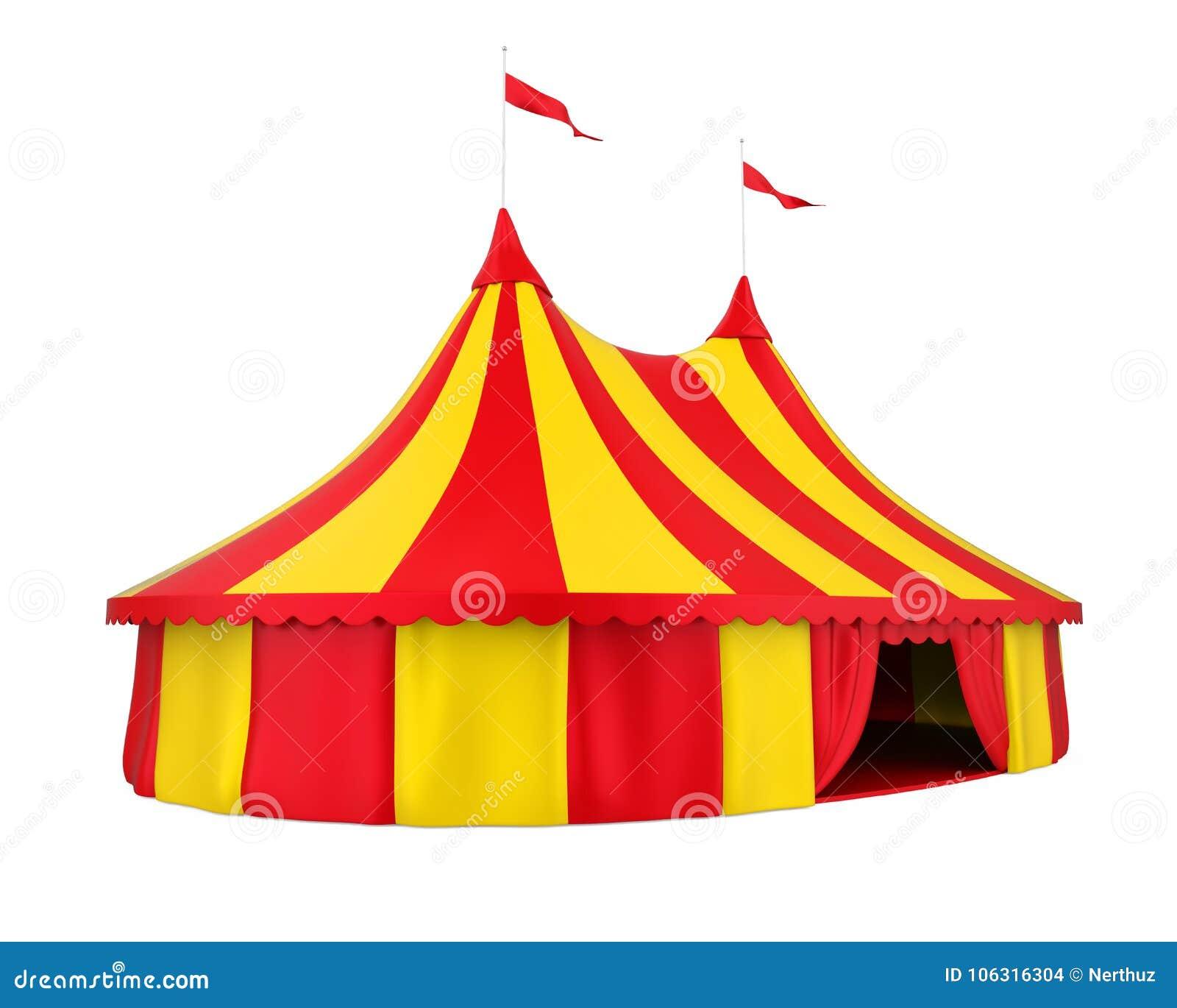 Изолированный шатер цирка