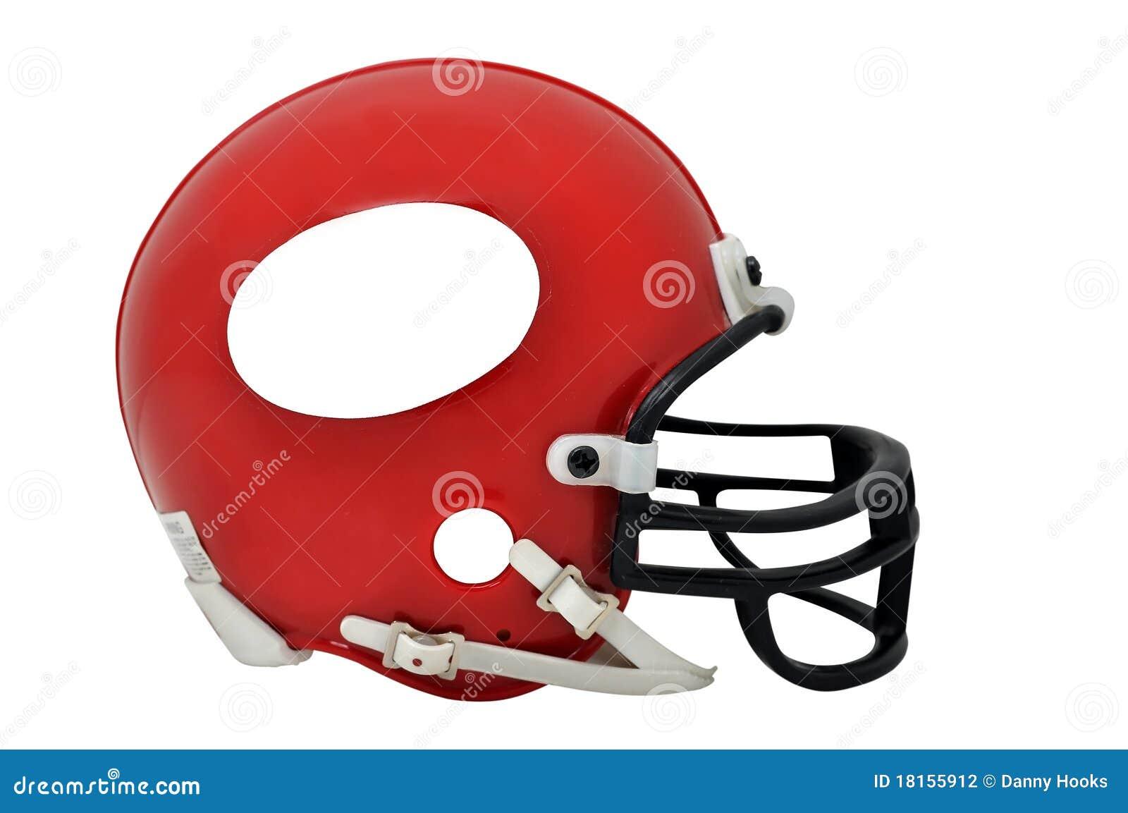 изолированный шлем американского футбола