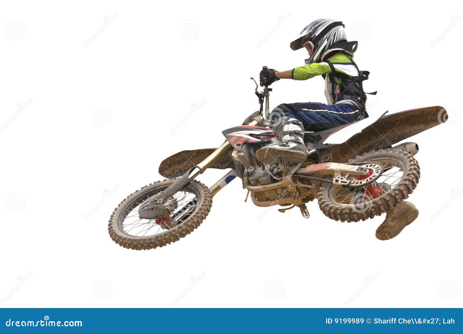 изолированный motocross