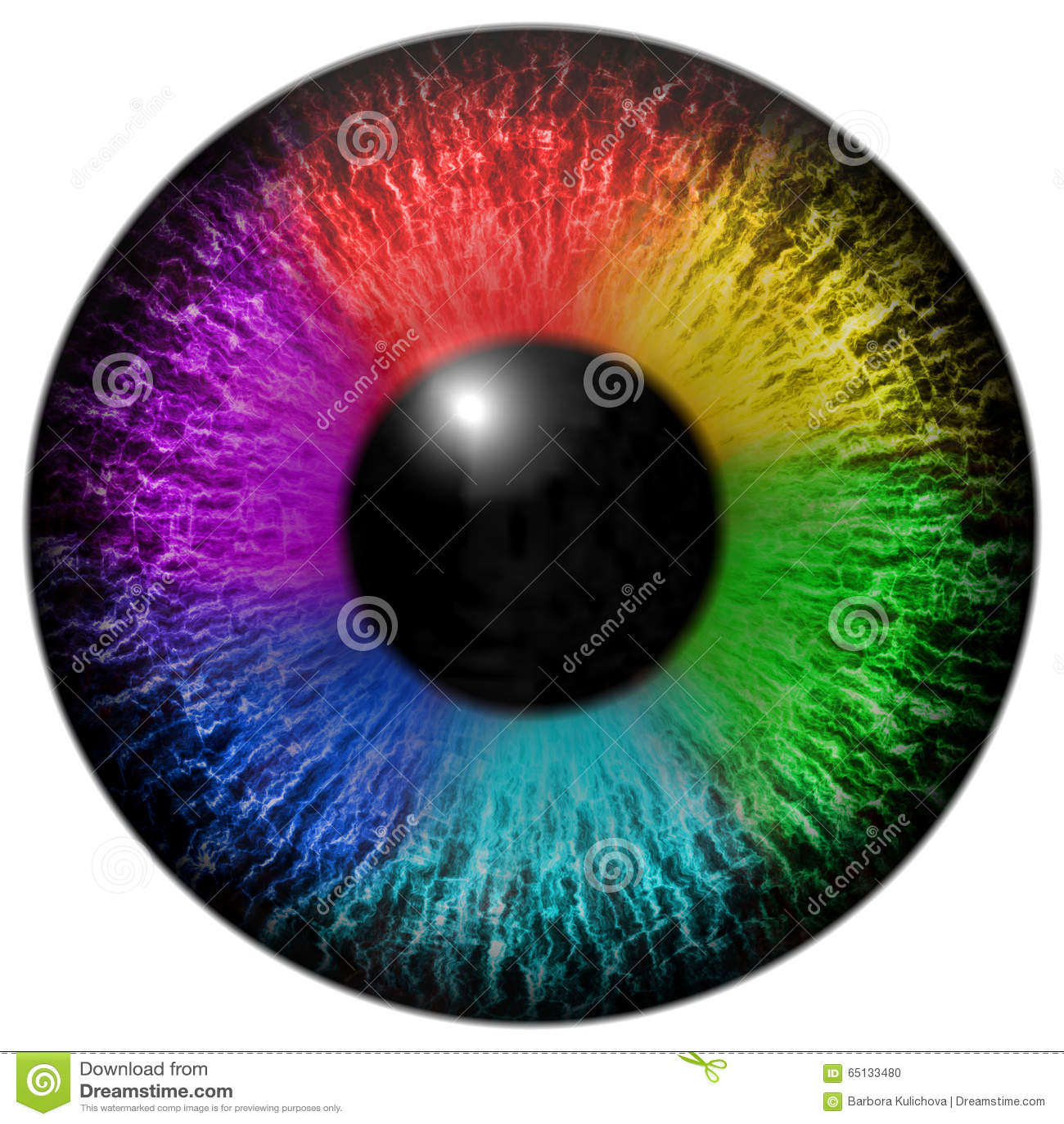 изолированная глазом отделенная радугой белизна тени