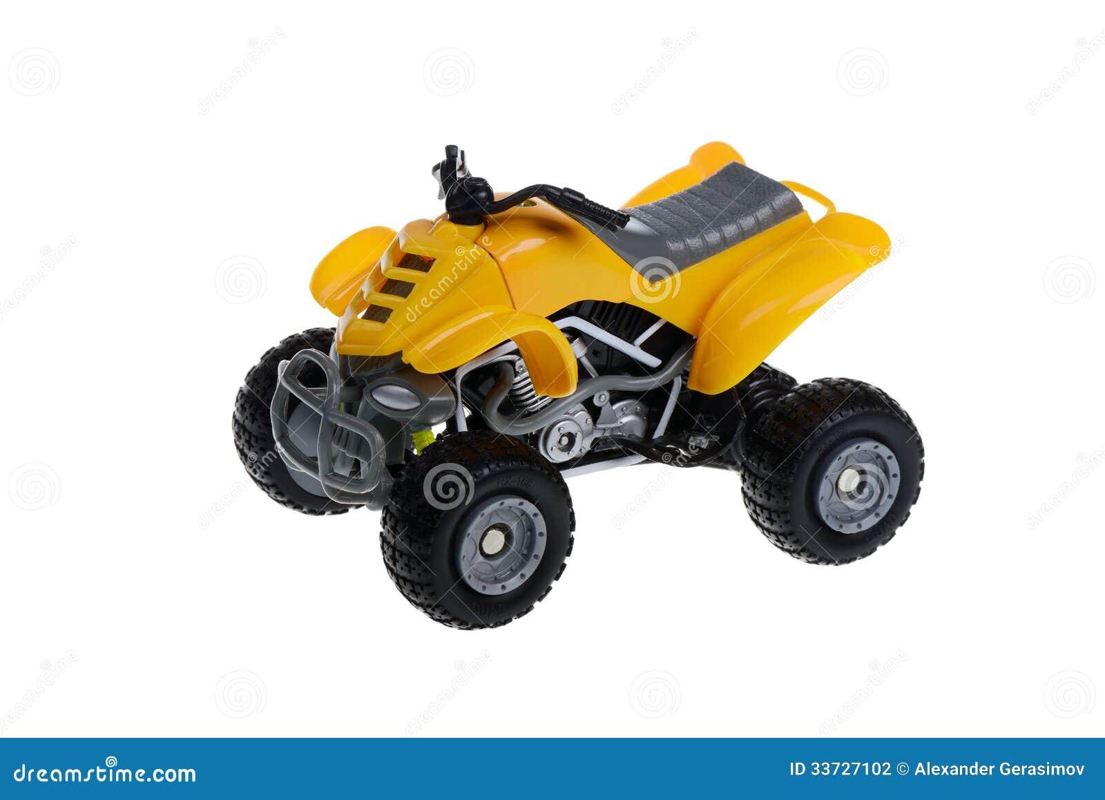 Изолированная игрушка мотоцикла квада Уилера ATV 4