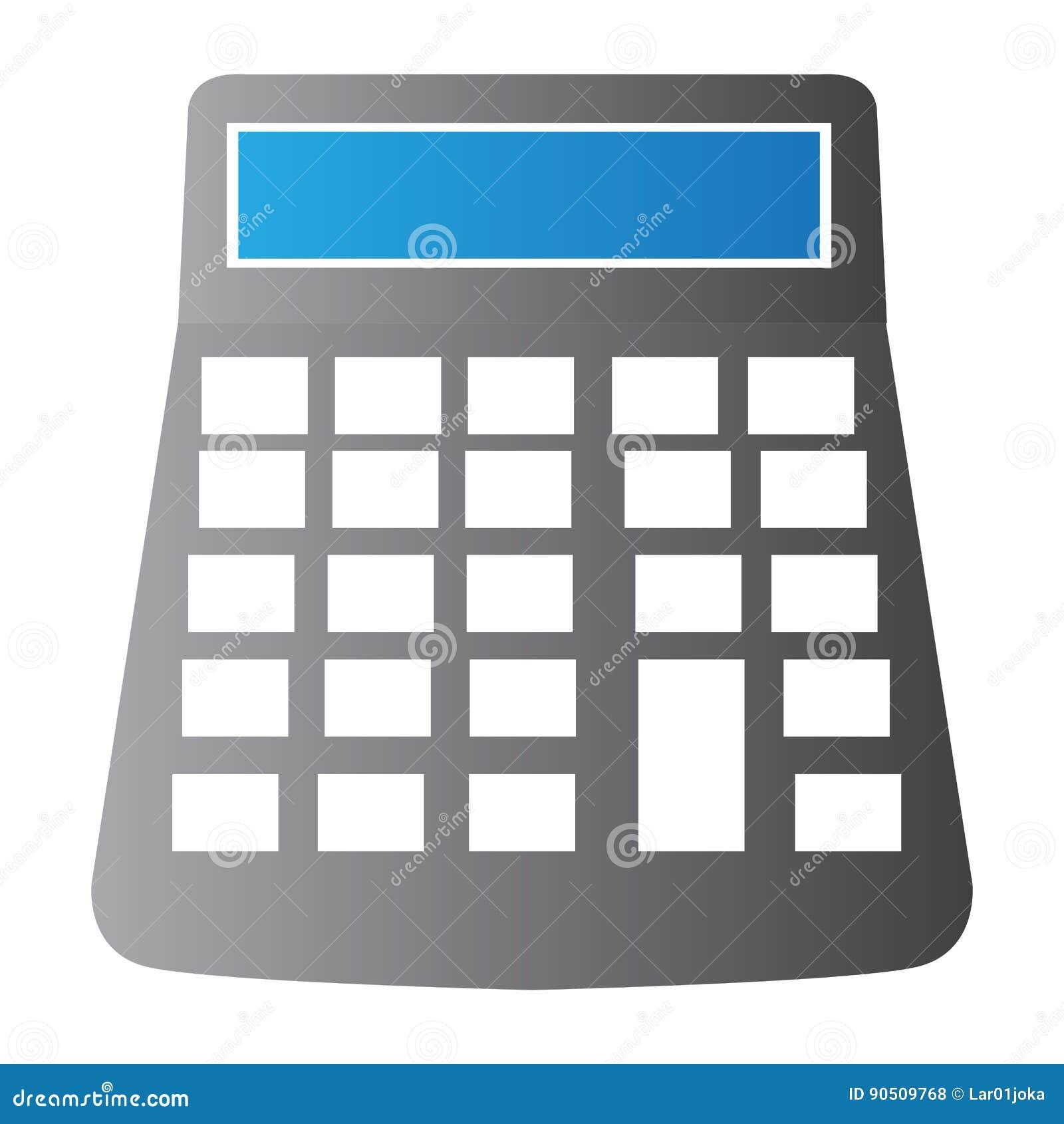 Изолированная иллюстрация калькулятора