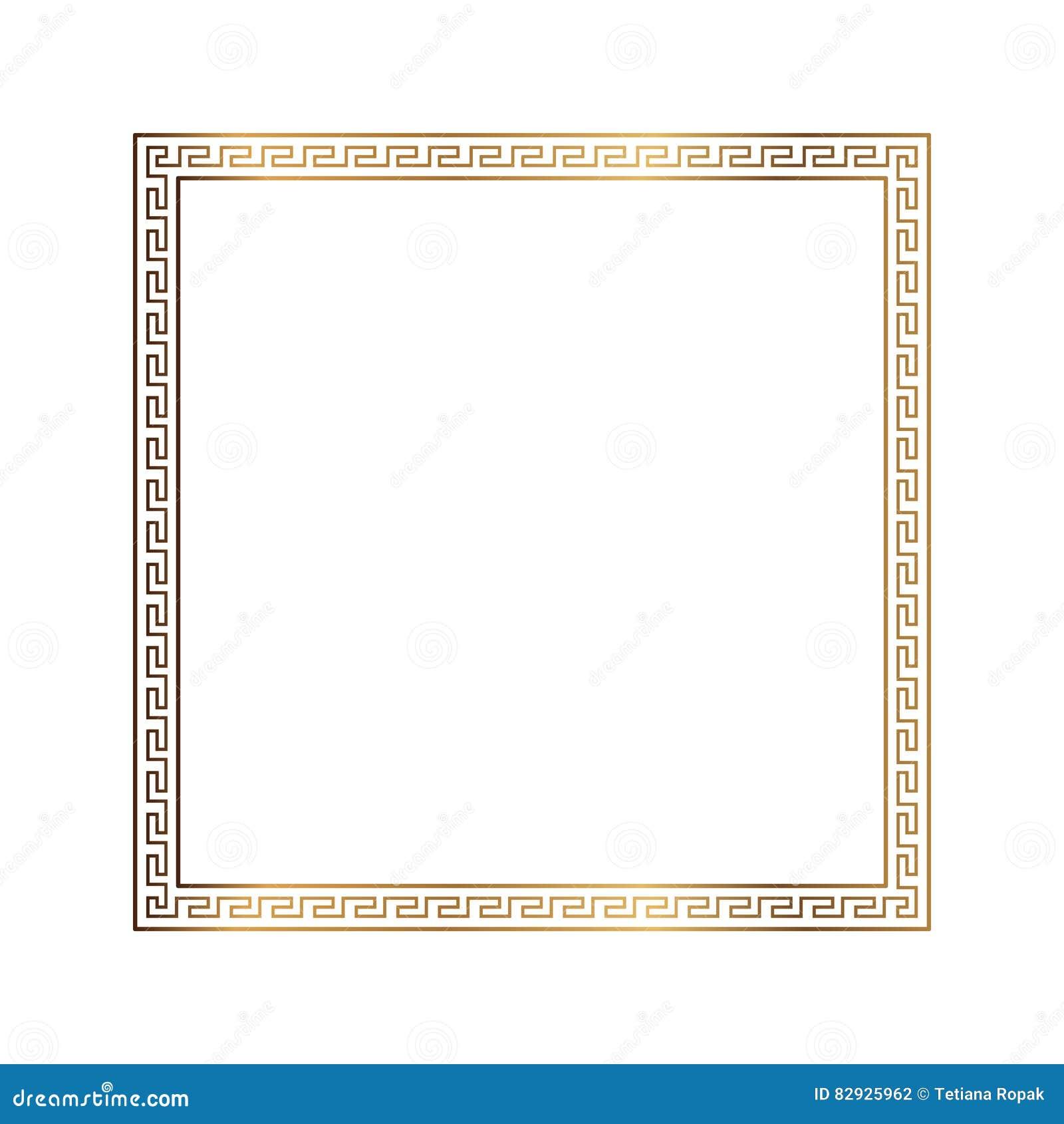 Изолированная картина рамки греческого стиля орнаментальная декоративная греческий орнамент Пакет рамки вектора античный Картины