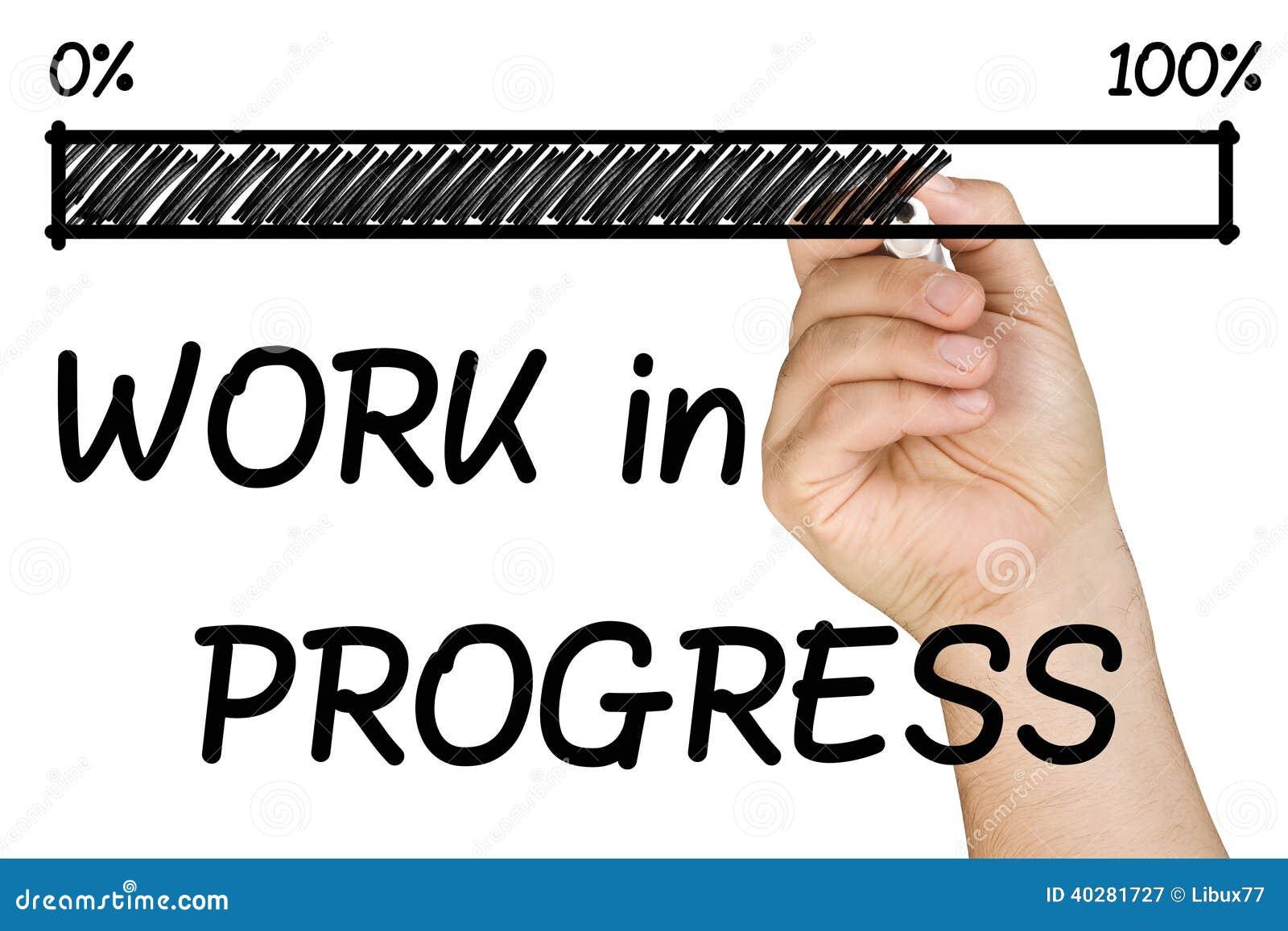Изолированная отметка руки прутковой работы прогресса