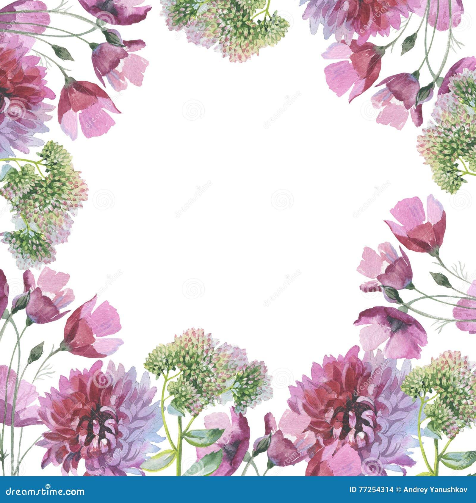 Рамка в форме цветка