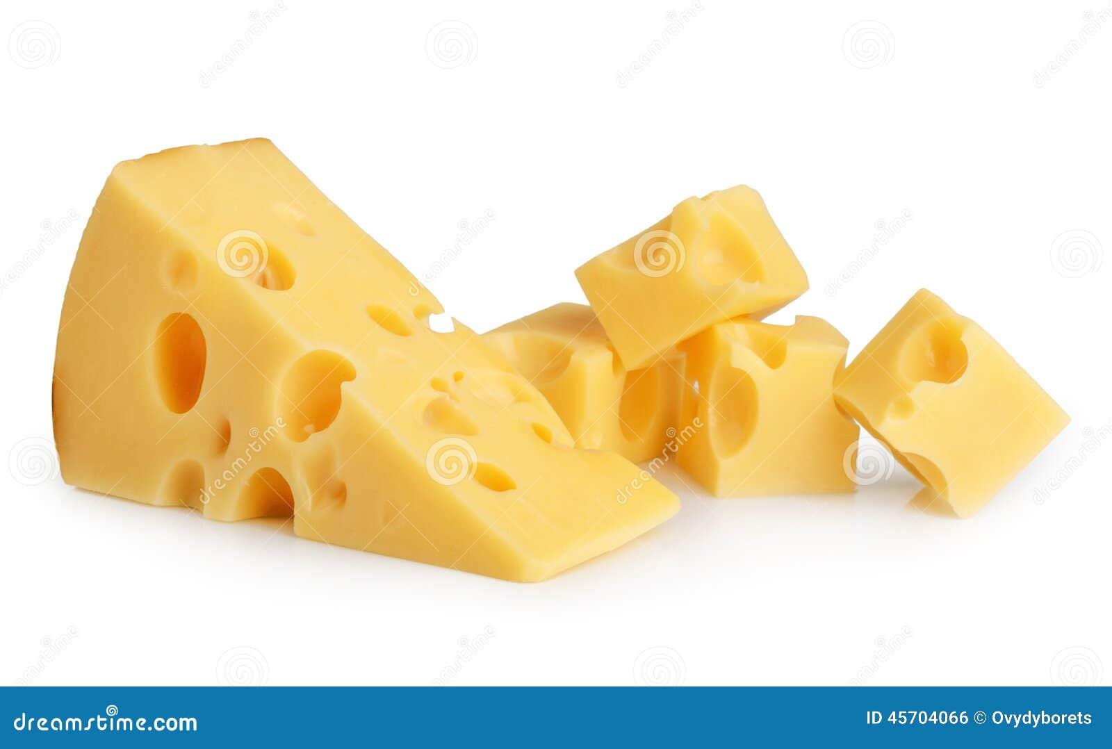 Изолированная часть сыра