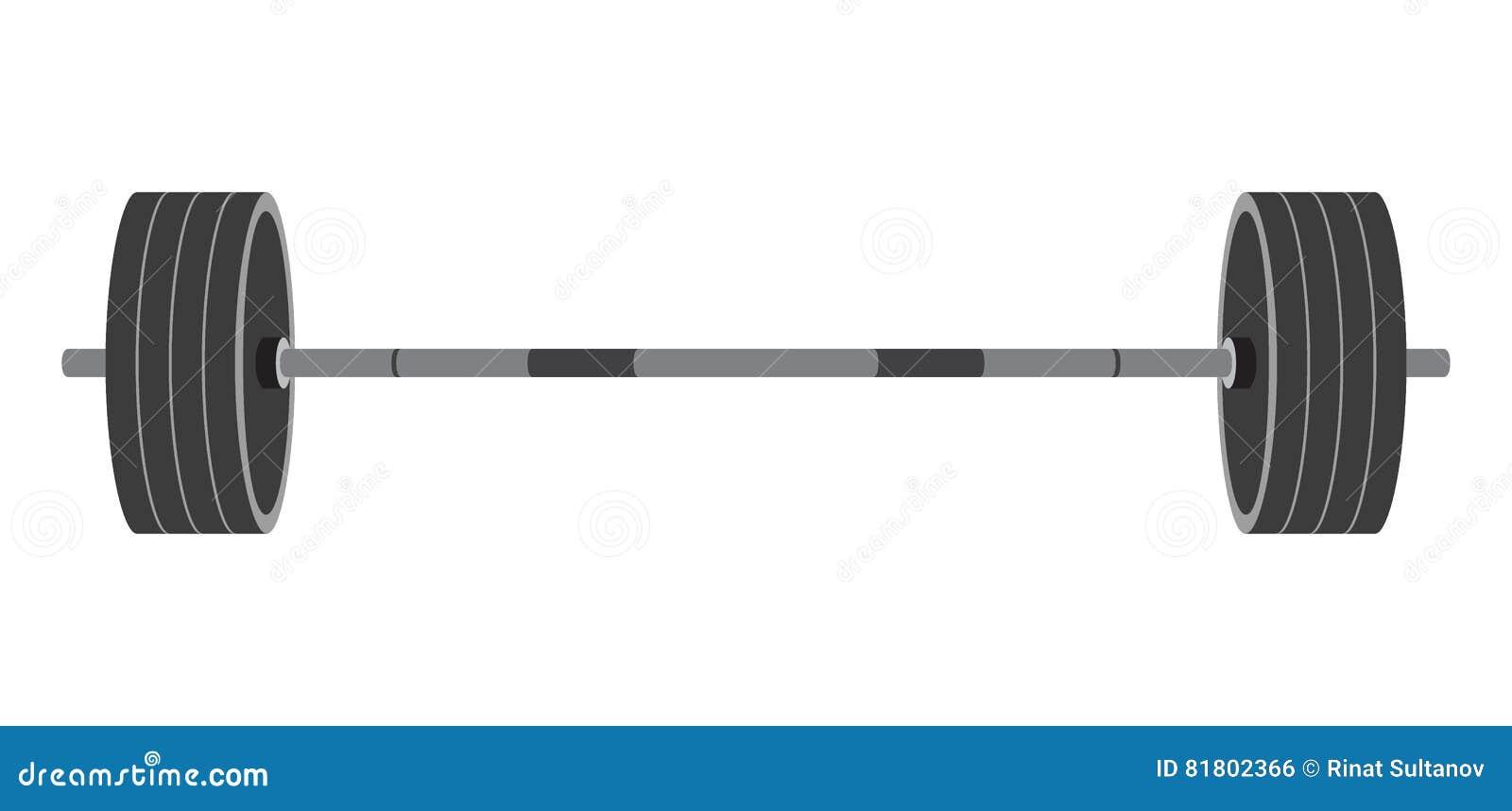 Изолированная штанга в плоском стиле Оборудование для спортзала, crossfit, Вэй