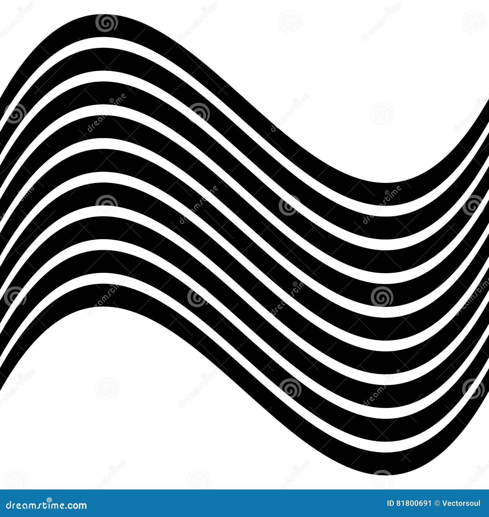 Изолированные линии с эффектом искажения на белой предпосылке Geome