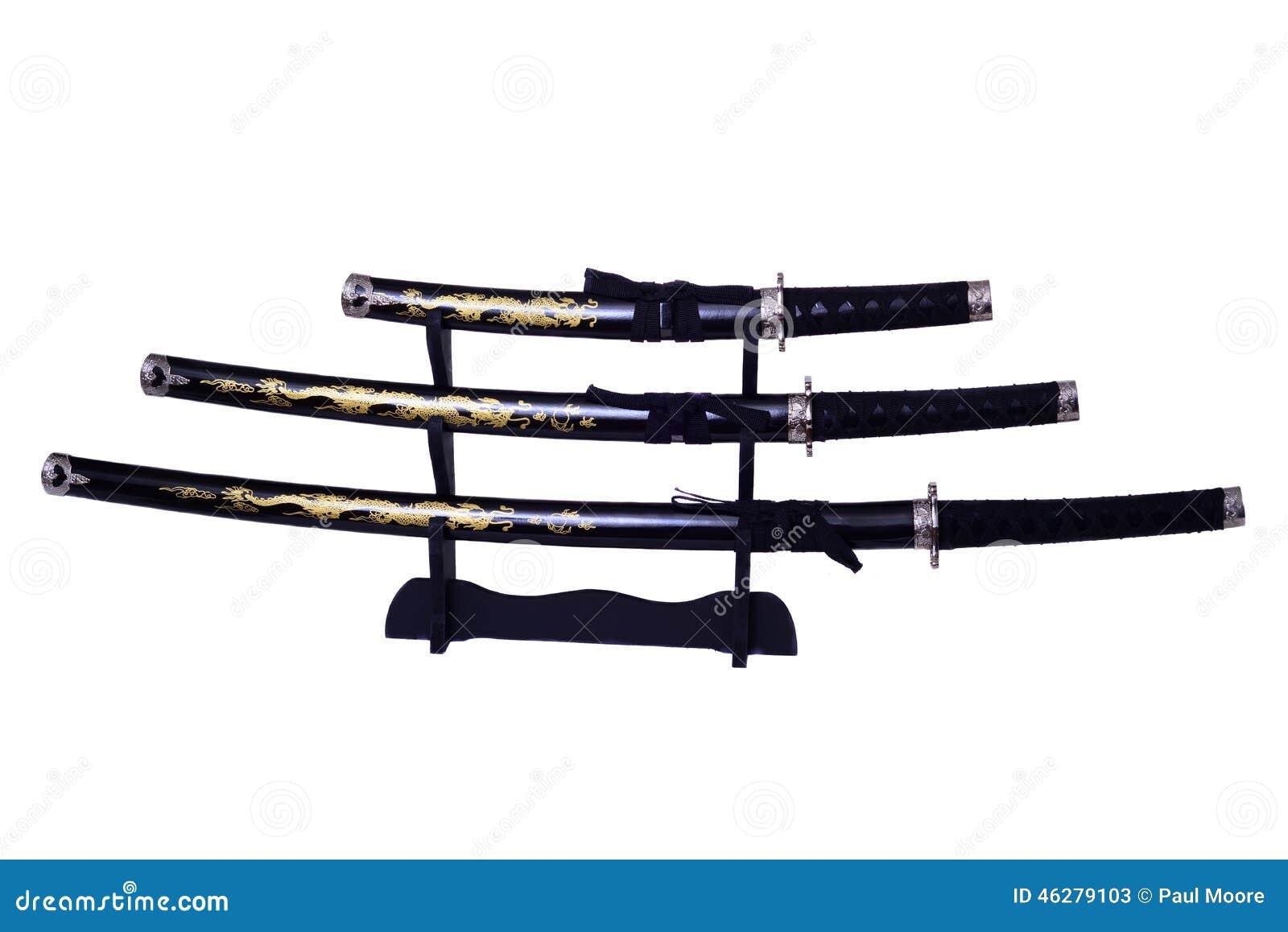 Изолированные шпаги самураев