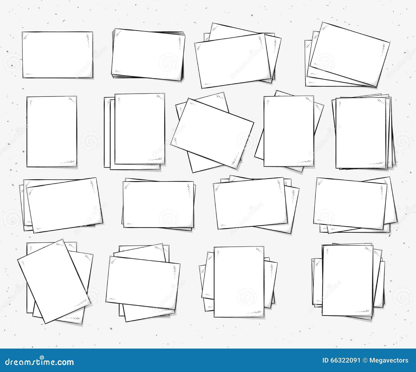 Изолированный бумажный лист handmade Страница в стиле эскиза