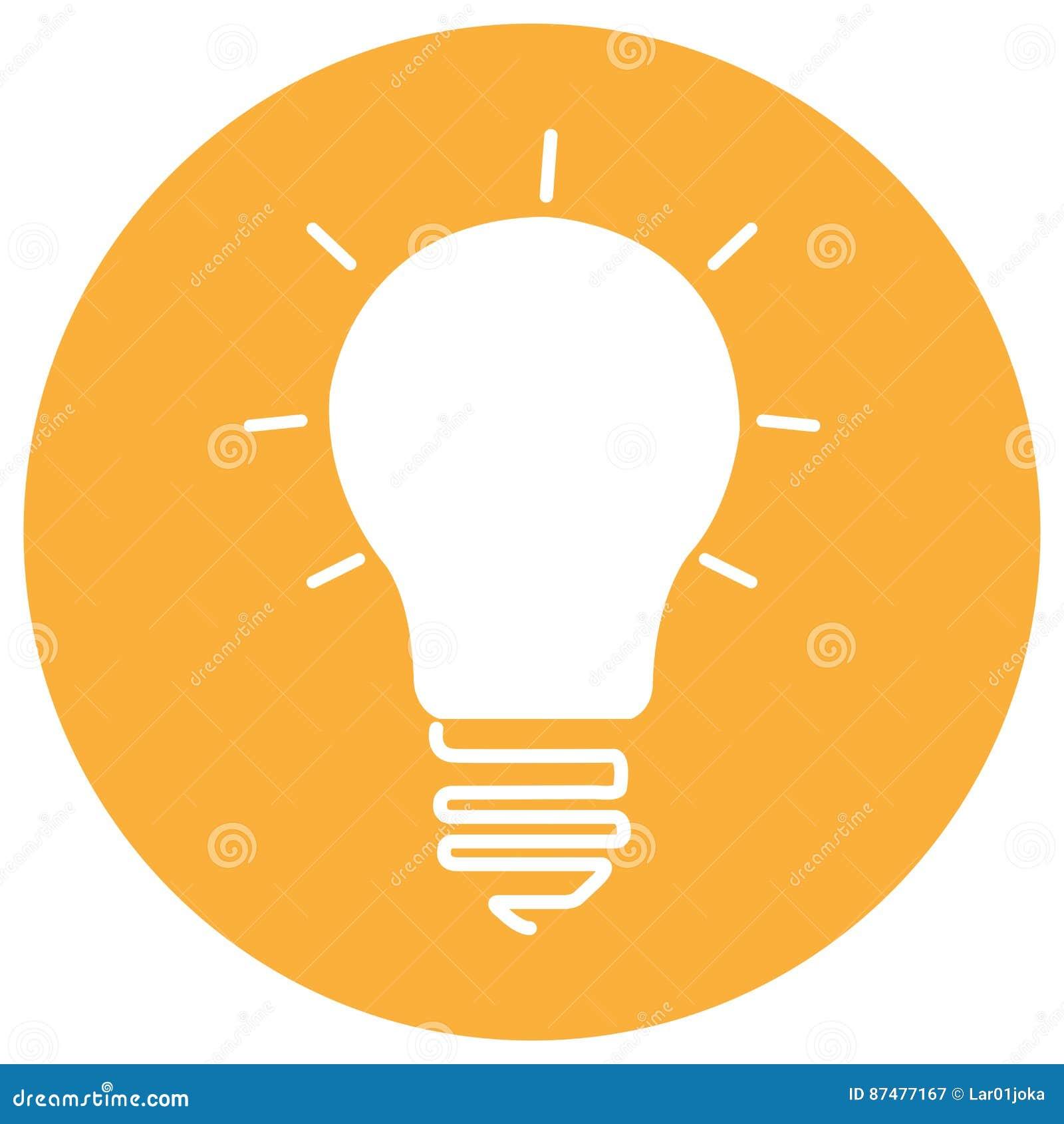Изолированный значок лампочки