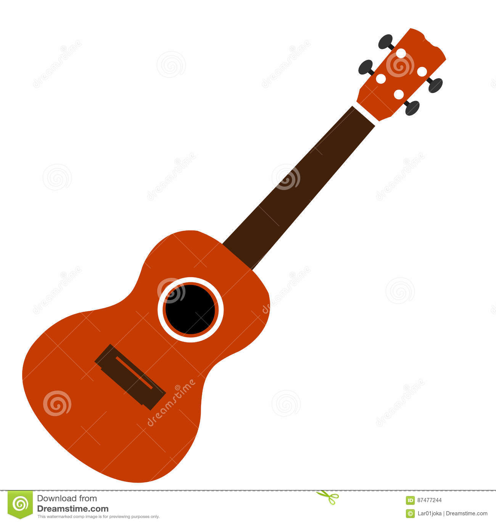 Изолированный значок гитары