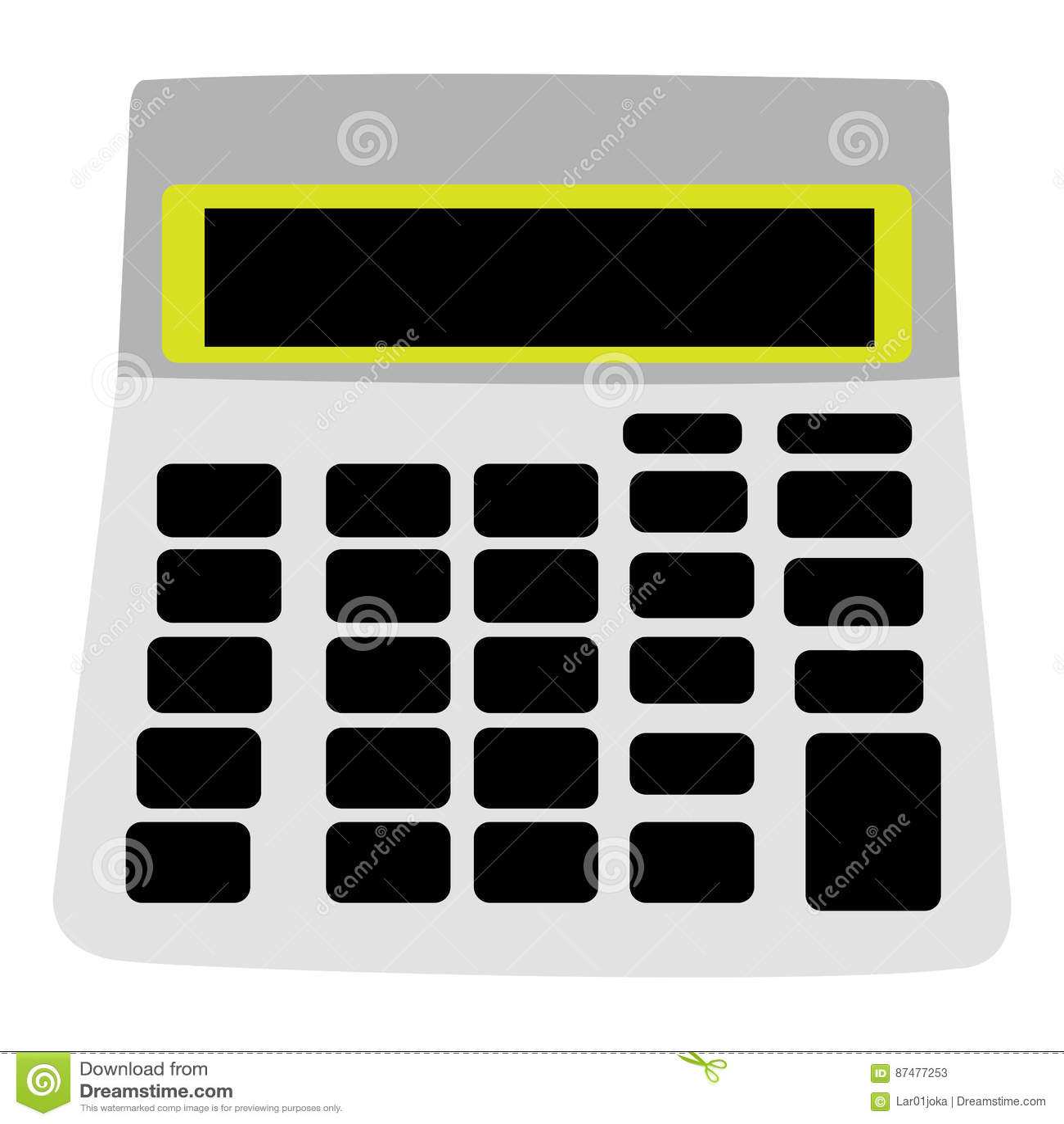Изолированный значок калькулятора