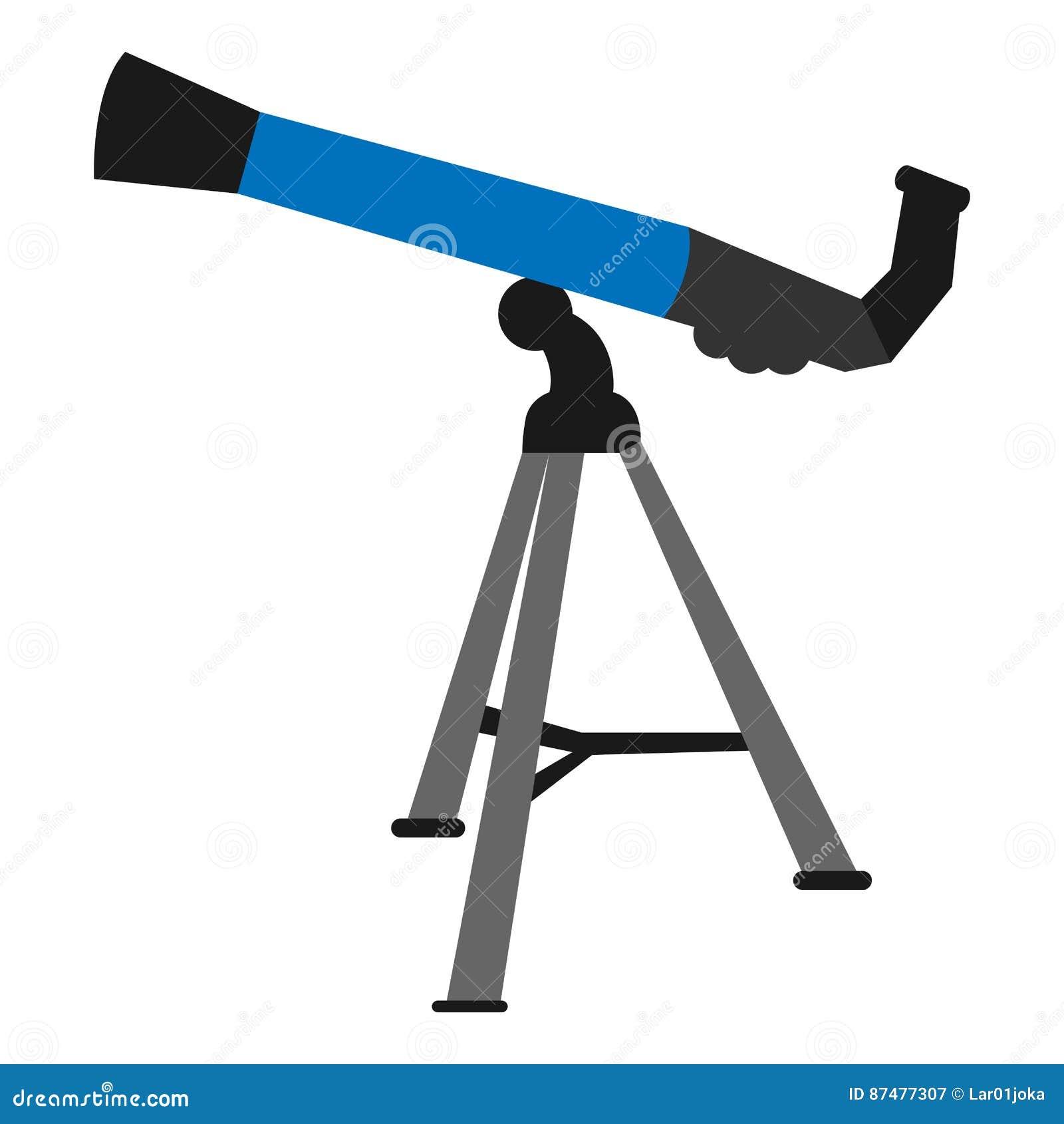 Изолированный значок телескопа
