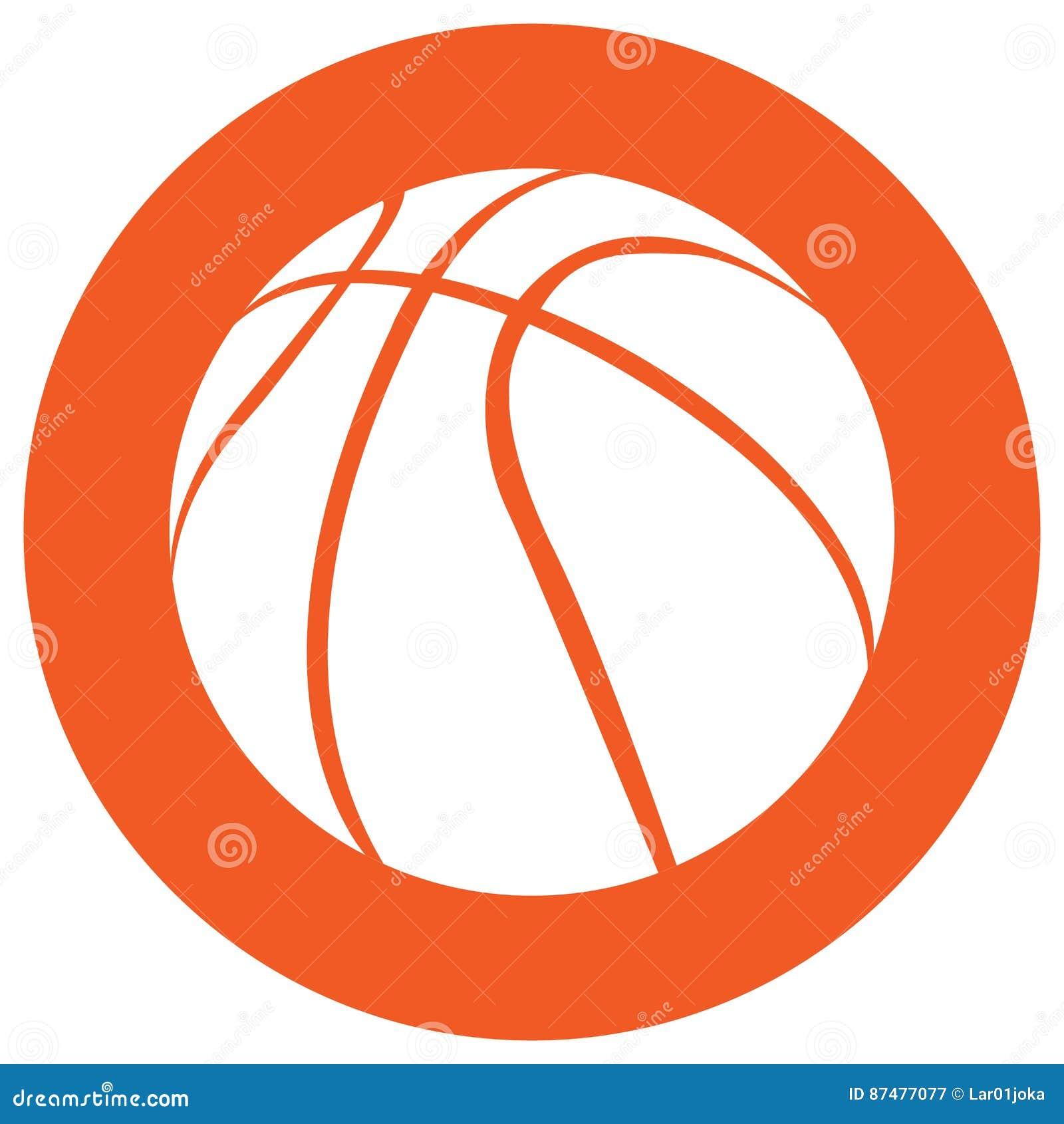 Изолированный значок шарика баскетбола