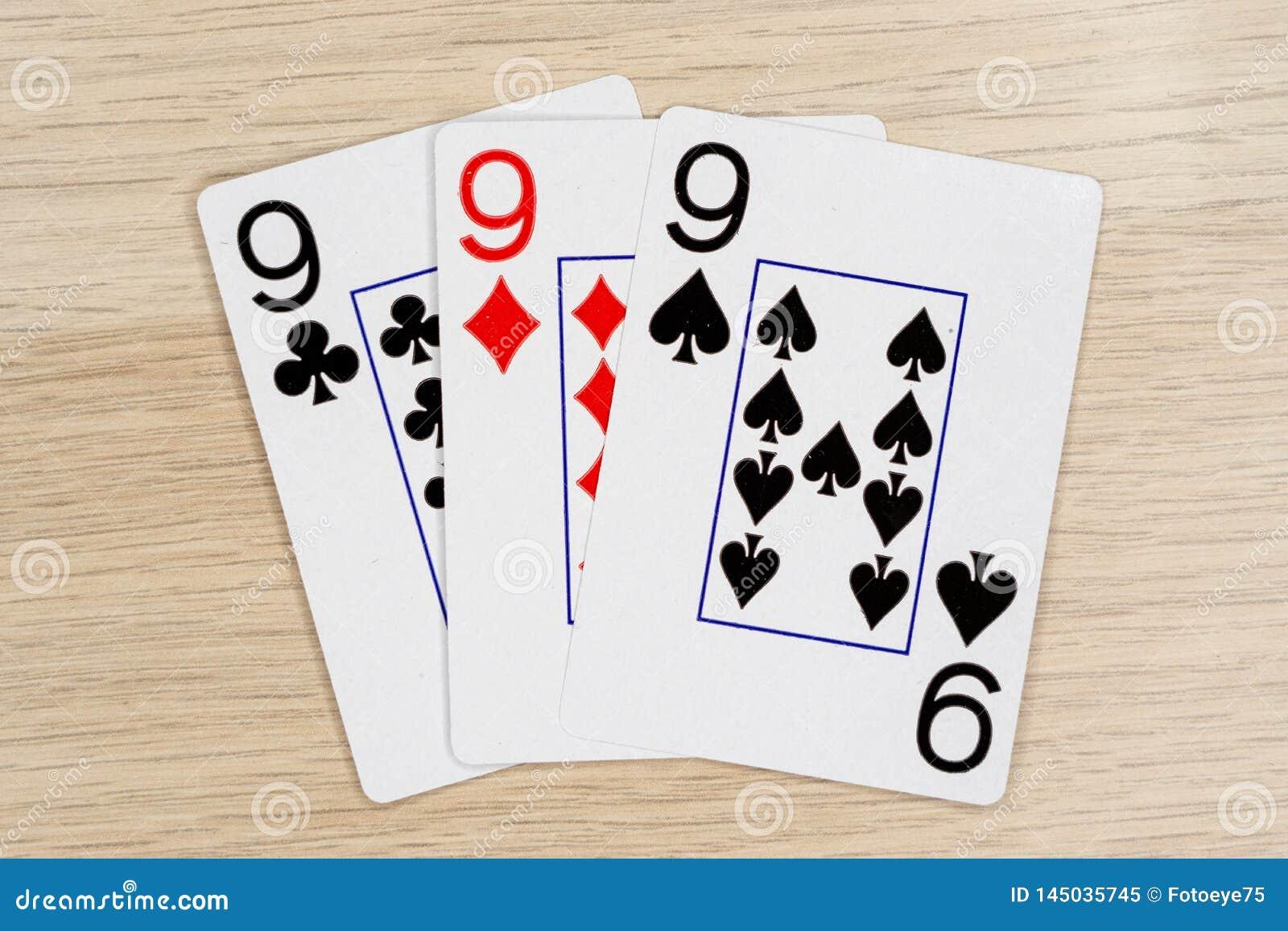 3 из добросердечные nines 9 - казино играя карты покера