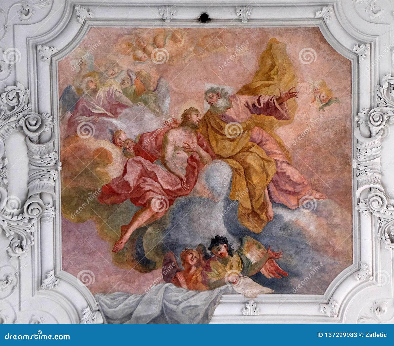 Иисус возвращает в его отца на небесах