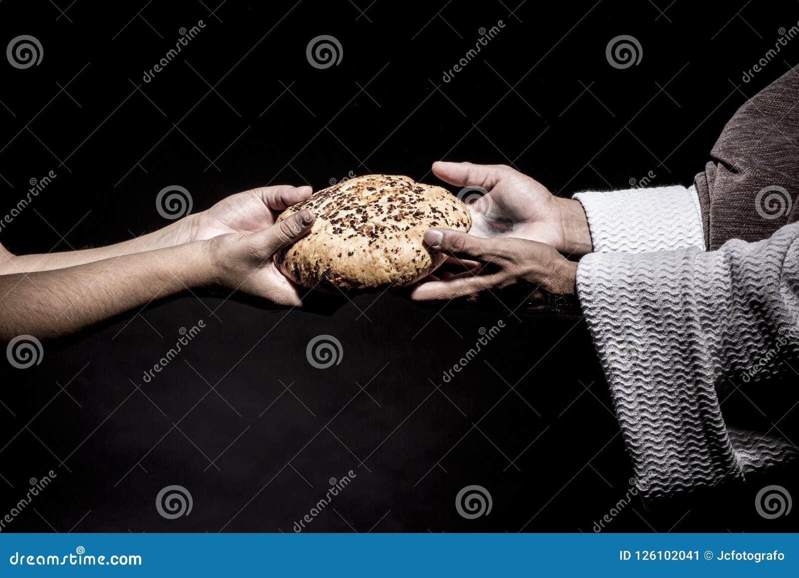 Иисус Христос моля перед голодать