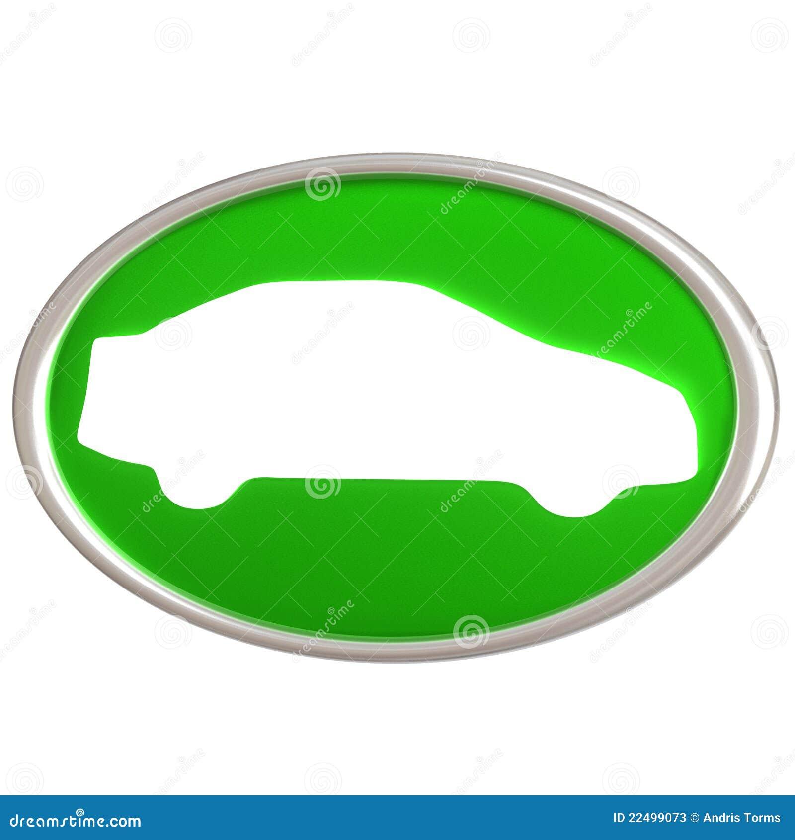 икона зеленого цвета автомобиля 3d